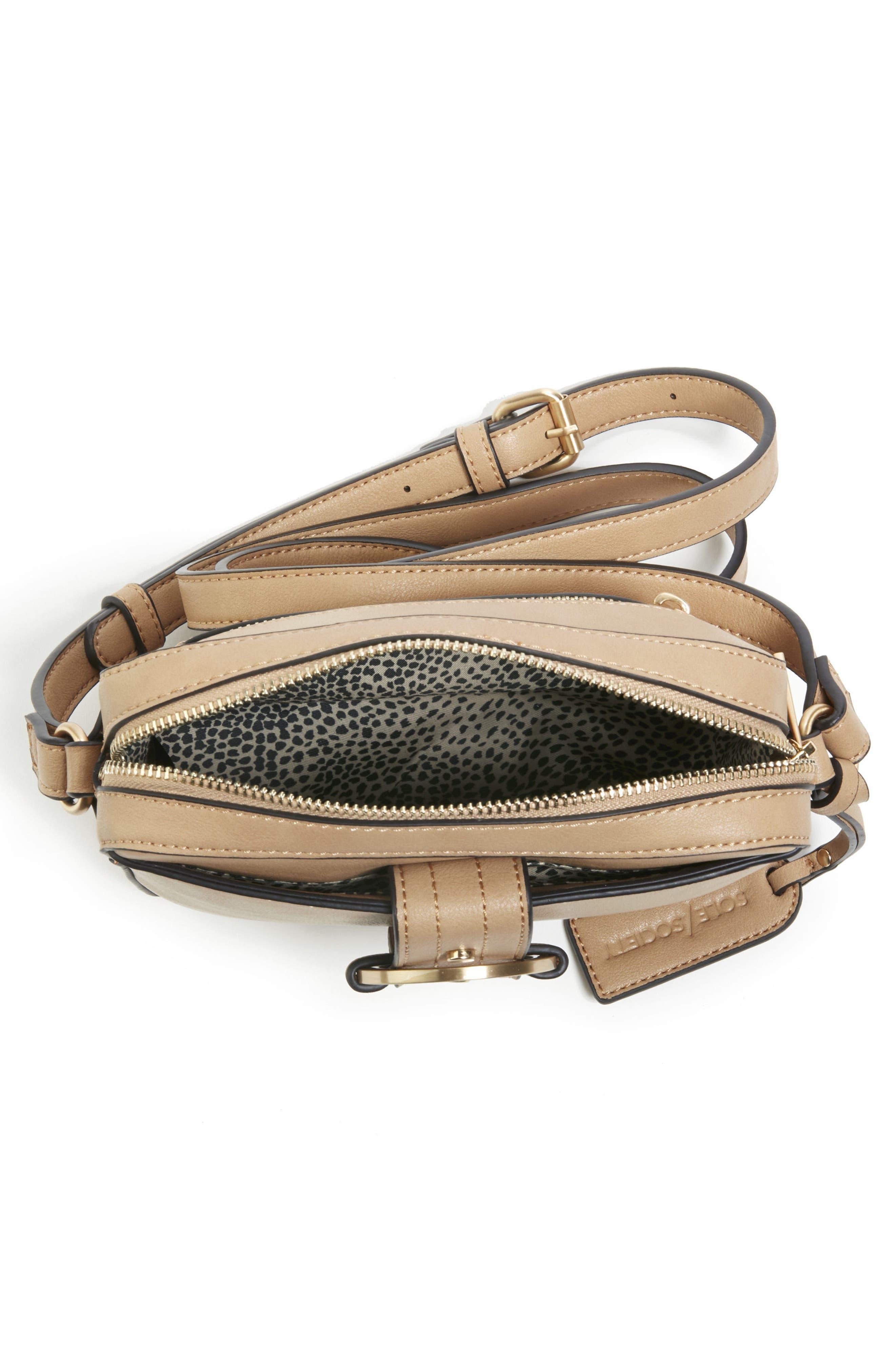 Faux Leather Camera Crossbody Bag,                             Alternate thumbnail 3, color,                             251