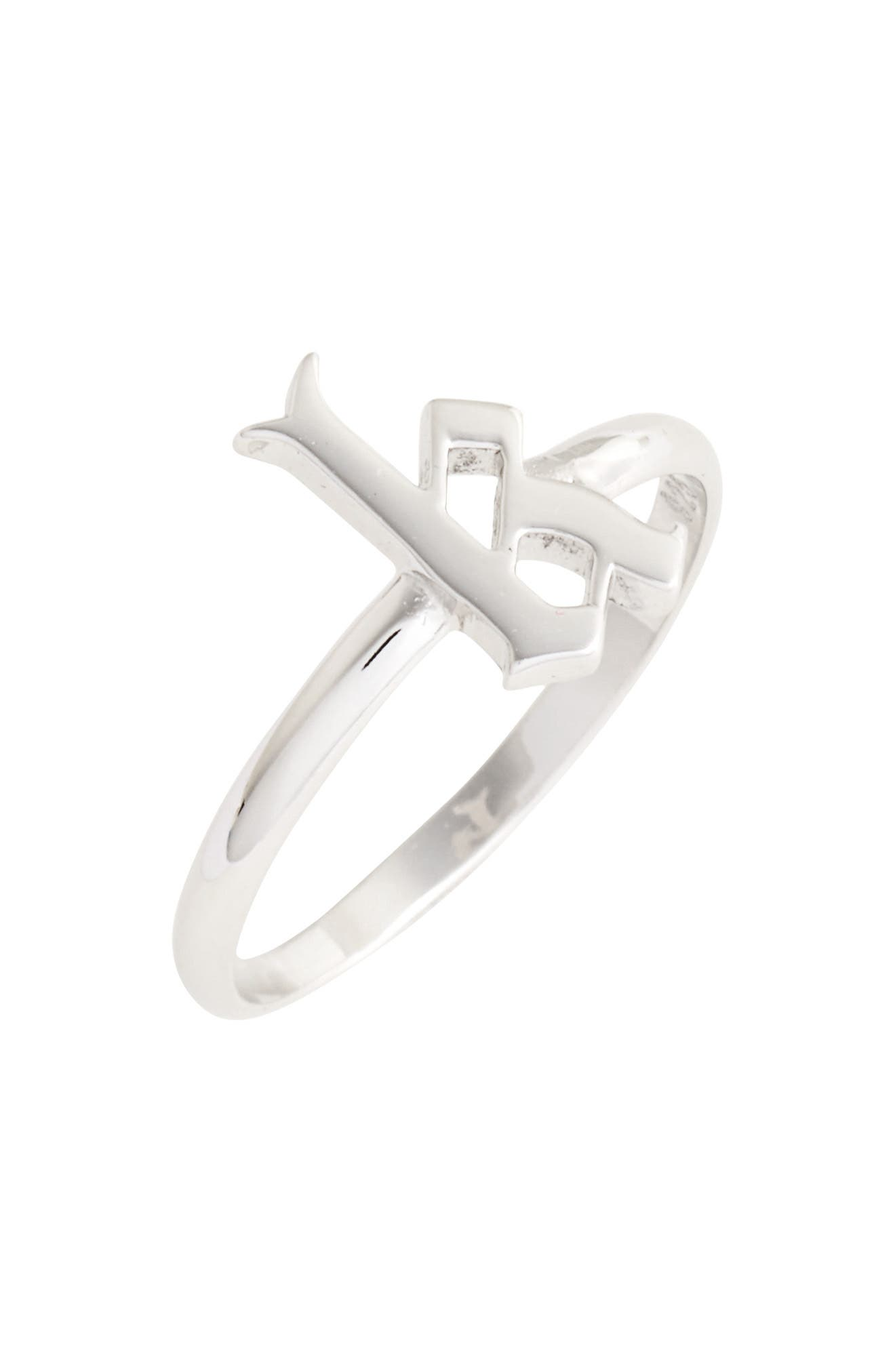 Gothic Initial Ring,                             Main thumbnail 8, color,