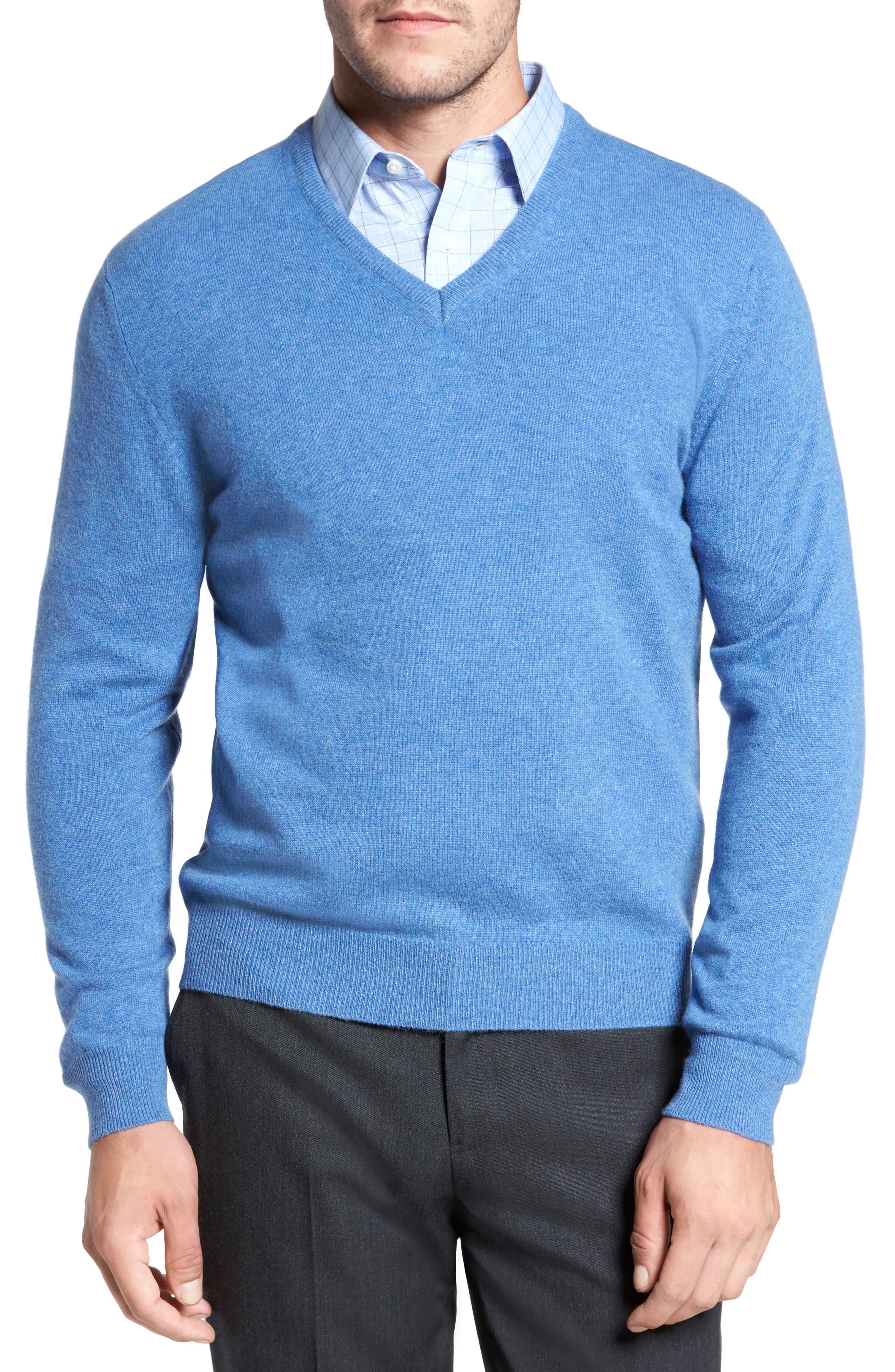 Cashmere V-Neck Sweater,                             Main thumbnail 4, color,