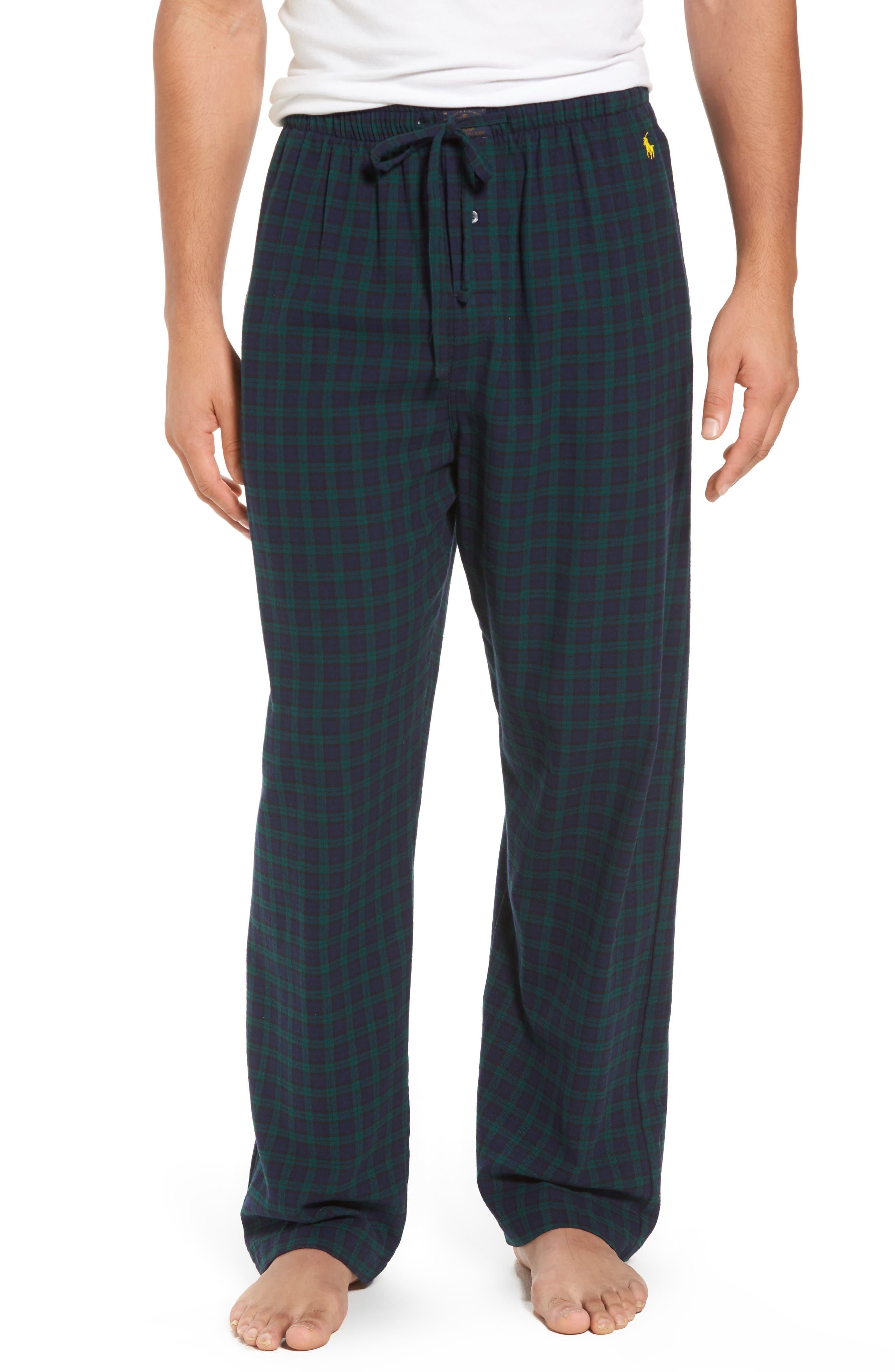 Flannel Pajama Pants,                             Main thumbnail 8, color,