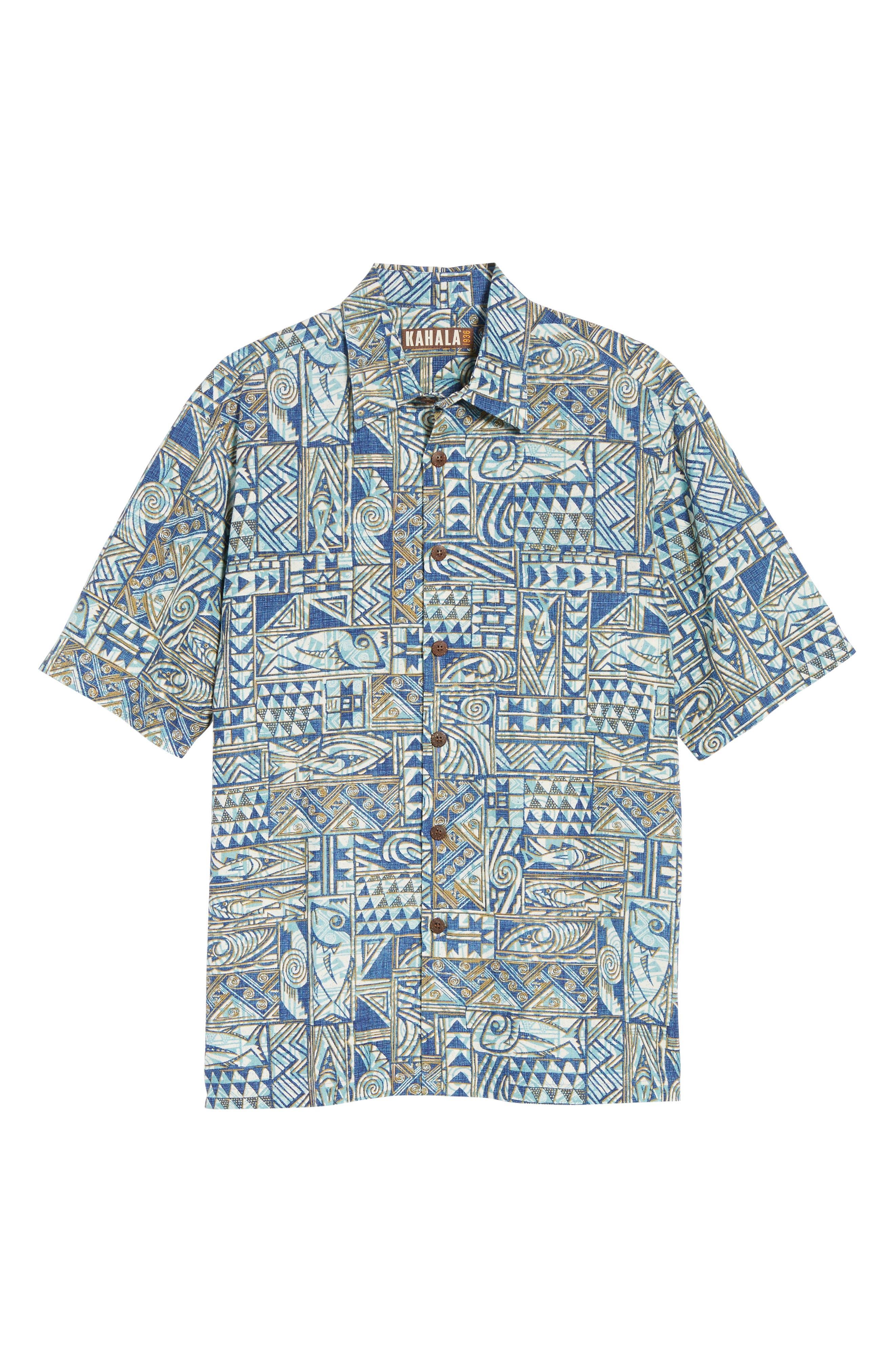 Ehukai Classic Fit Print Sport Shirt,                             Alternate thumbnail 12, color,