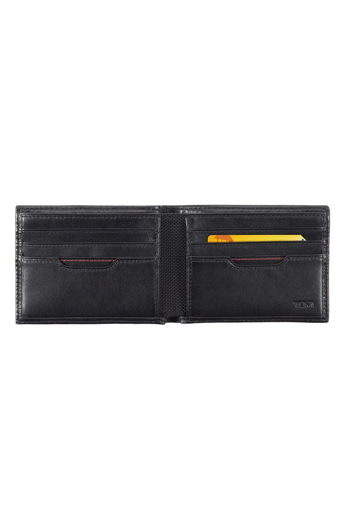 Delta Double ID Lock<sup>™</sup> Shielded Leather Wallet,                             Alternate thumbnail 6, color,                             BLACK