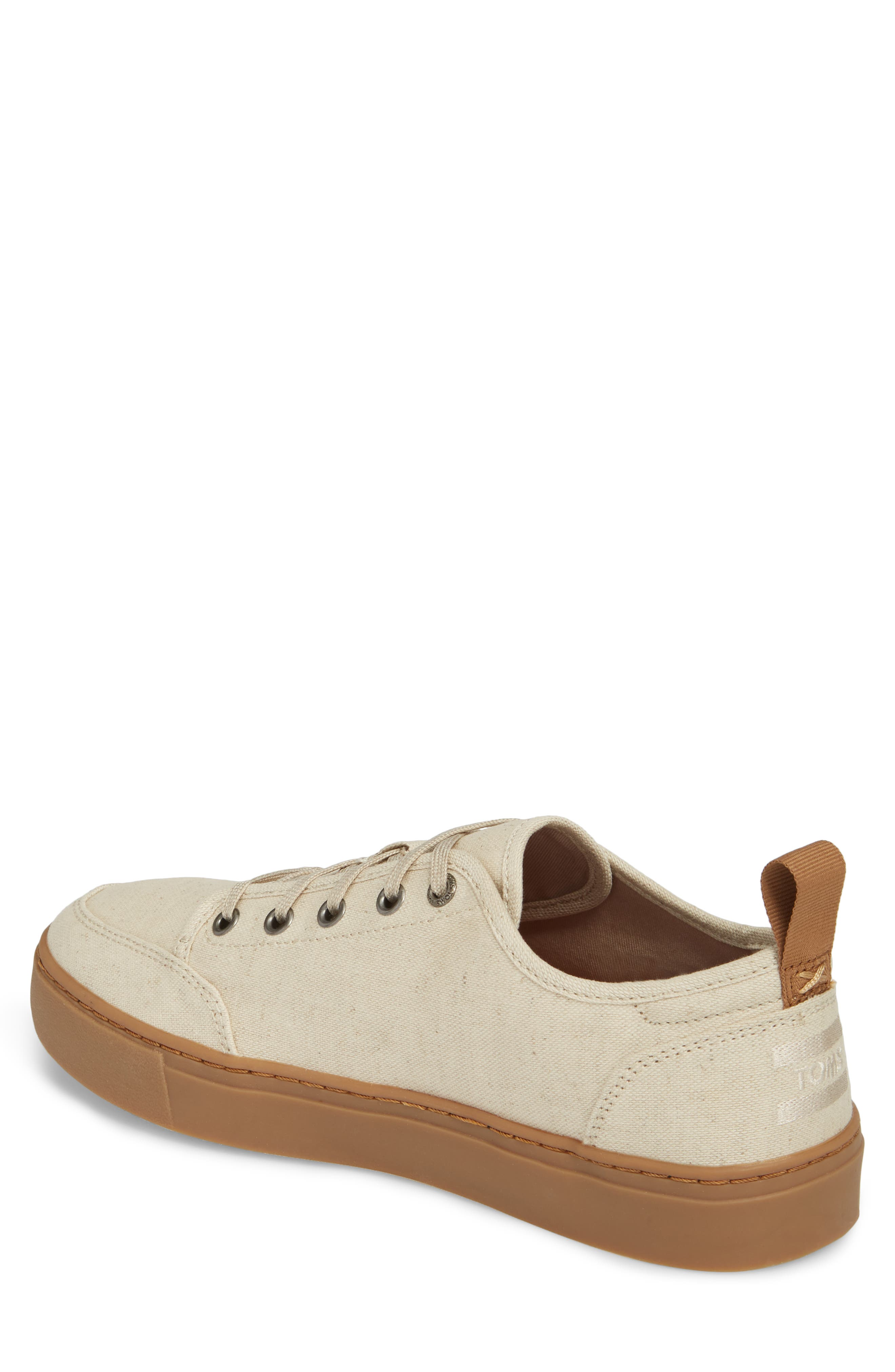 Landen Low Top Sneaker,                             Alternate thumbnail 2, color,                             NATURAL HEMP/ GUM