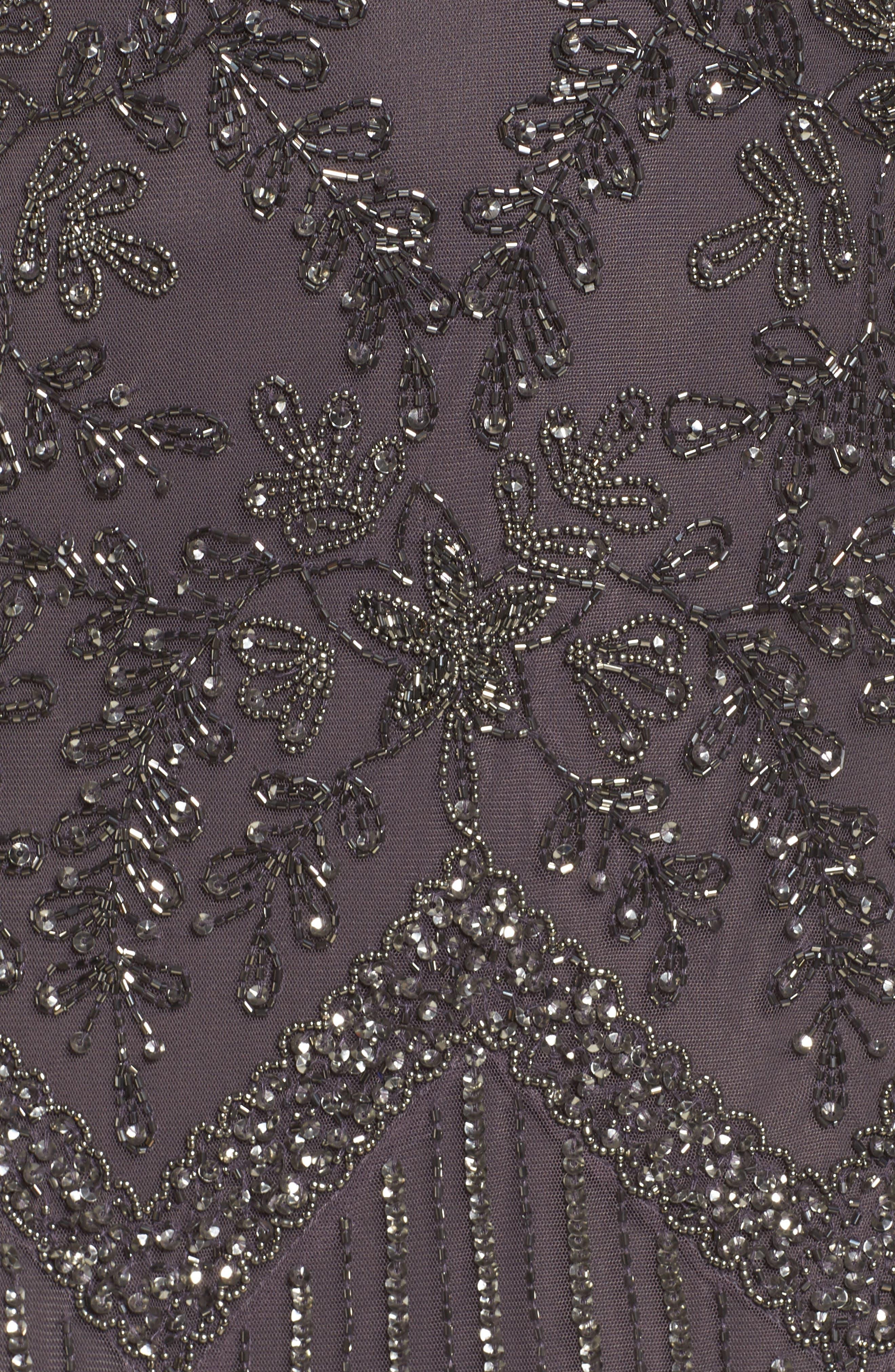 Beaded V-Neck Gown,                             Alternate thumbnail 5, color,                             020