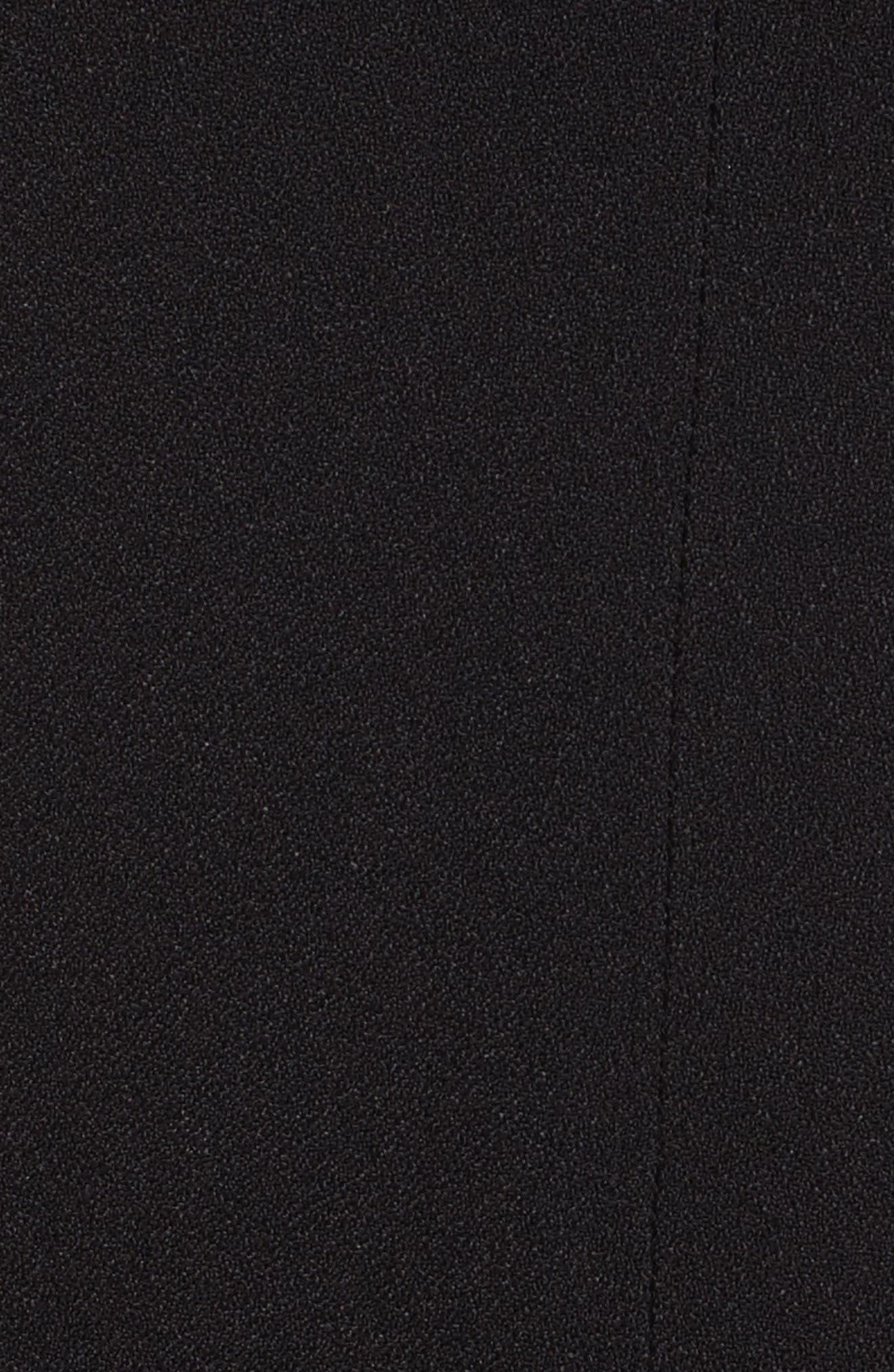 Rosina Easy Day Crepe Dress,                             Alternate thumbnail 5, color,                             001