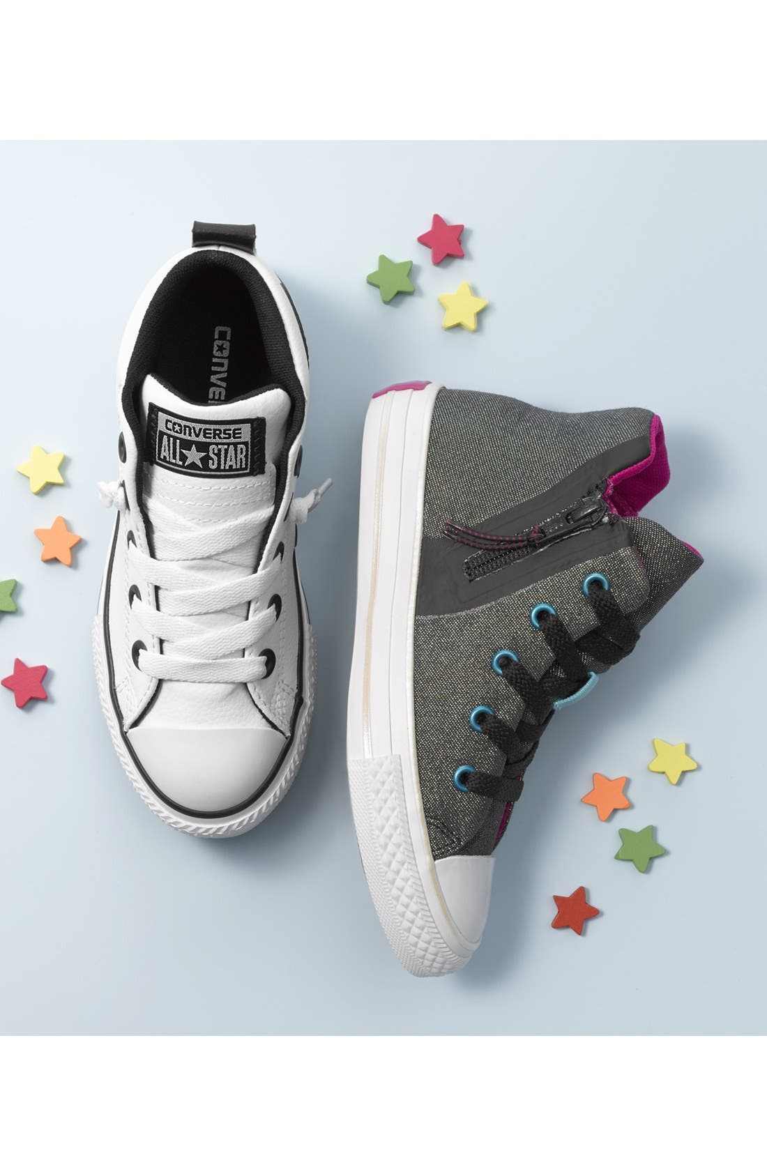 Chuck Taylor<sup>®</sup> All Star<sup>®</sup> Mid High Sneaker,                             Alternate thumbnail 5, color,                             102