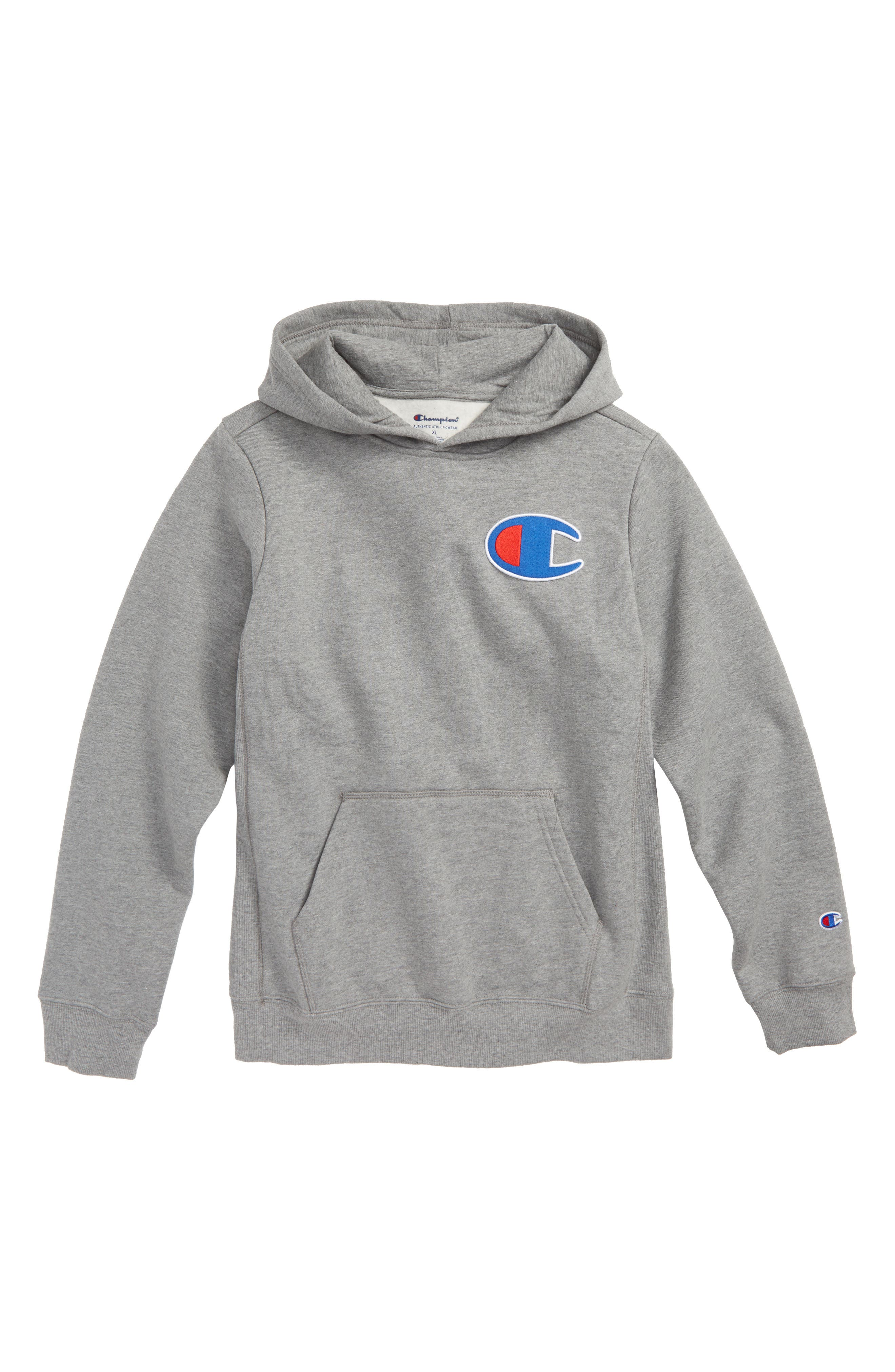 CHAMPION,                             Heritage Logo Pullover Hoodie,                             Main thumbnail 1, color,                             038