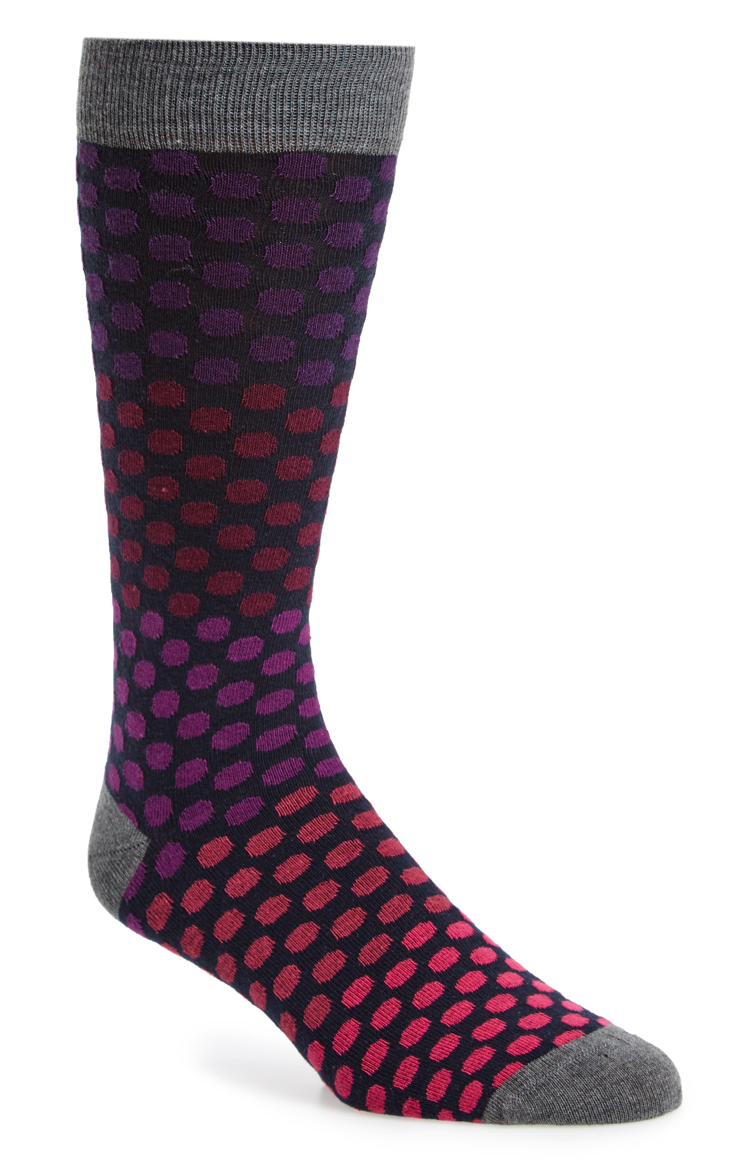 Merritt Dot Socks,                         Main,                         color, 030
