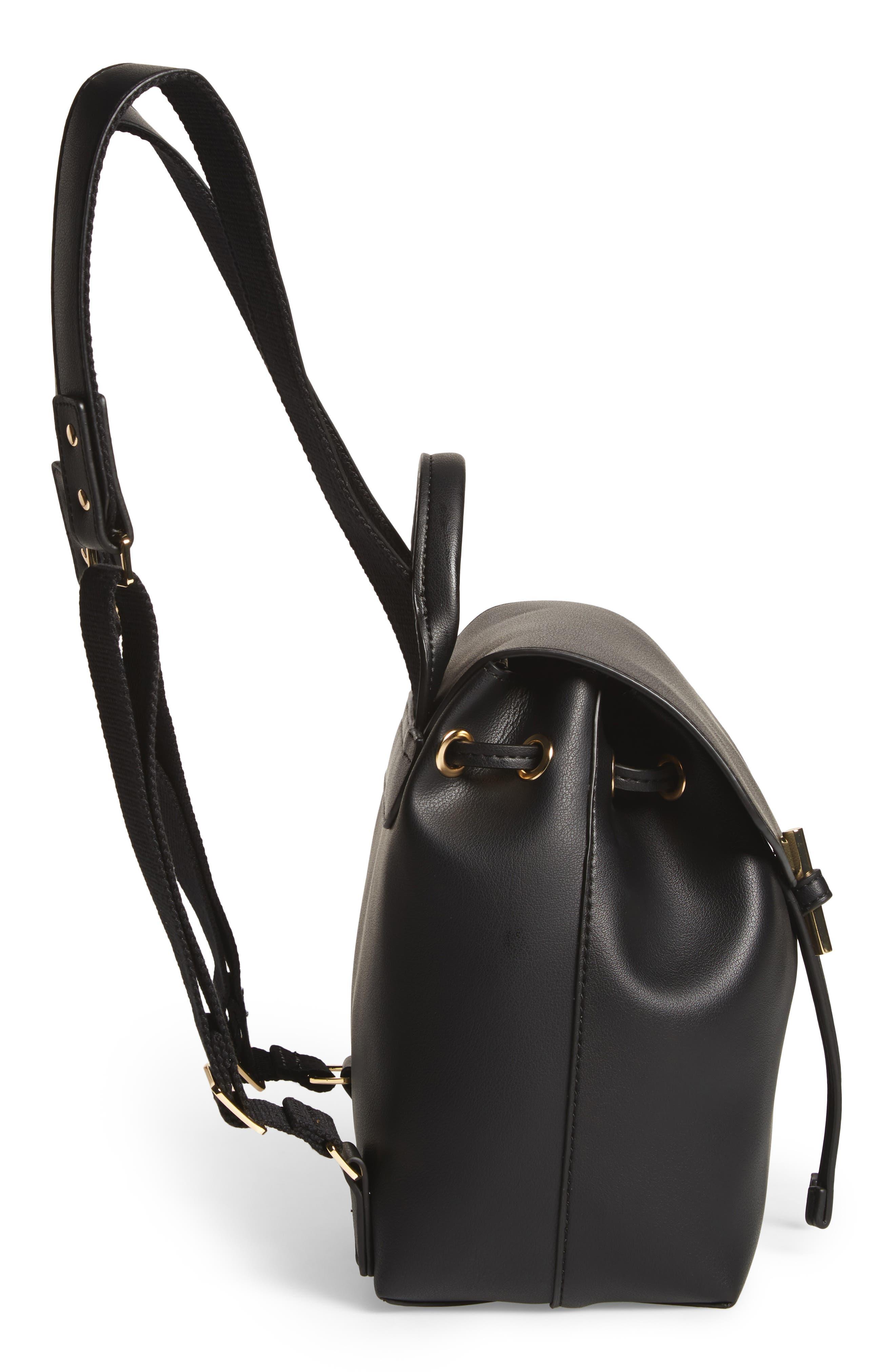 Blake Mini Faux Leather Backpack,                             Alternate thumbnail 9, color,