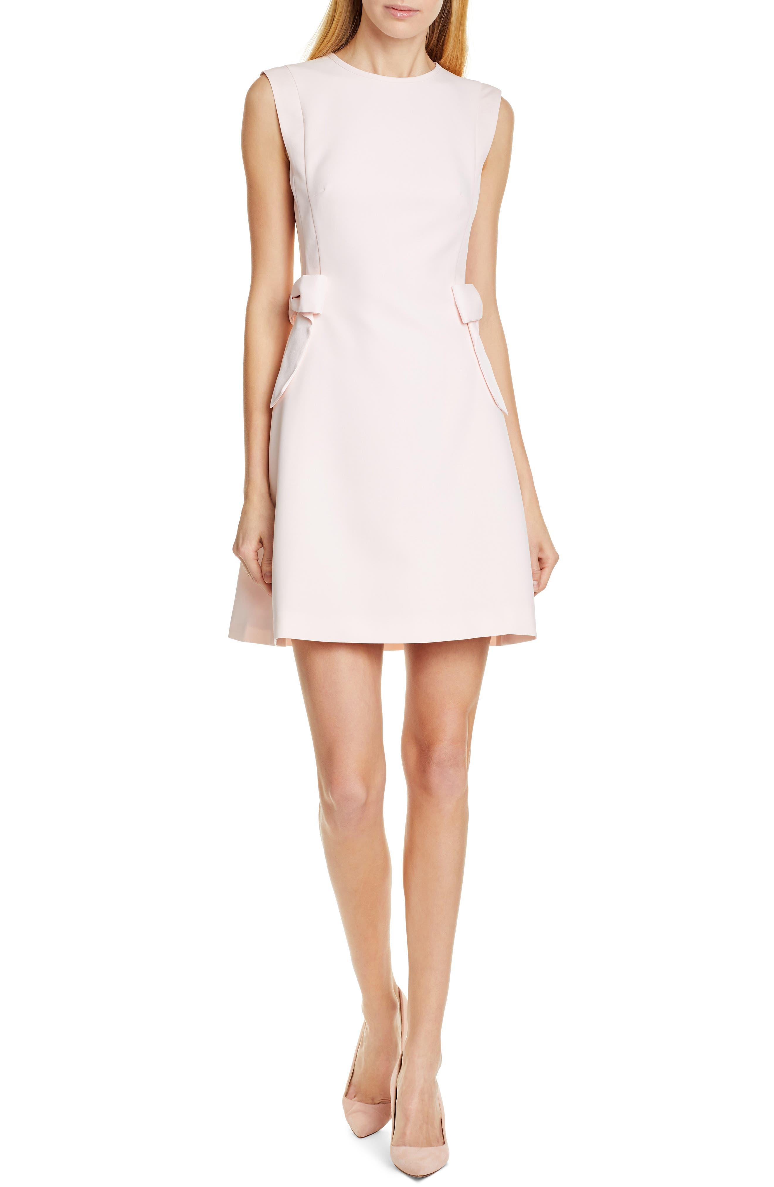 Ted Baker London Meline Side Bow Detail Dress, Pink