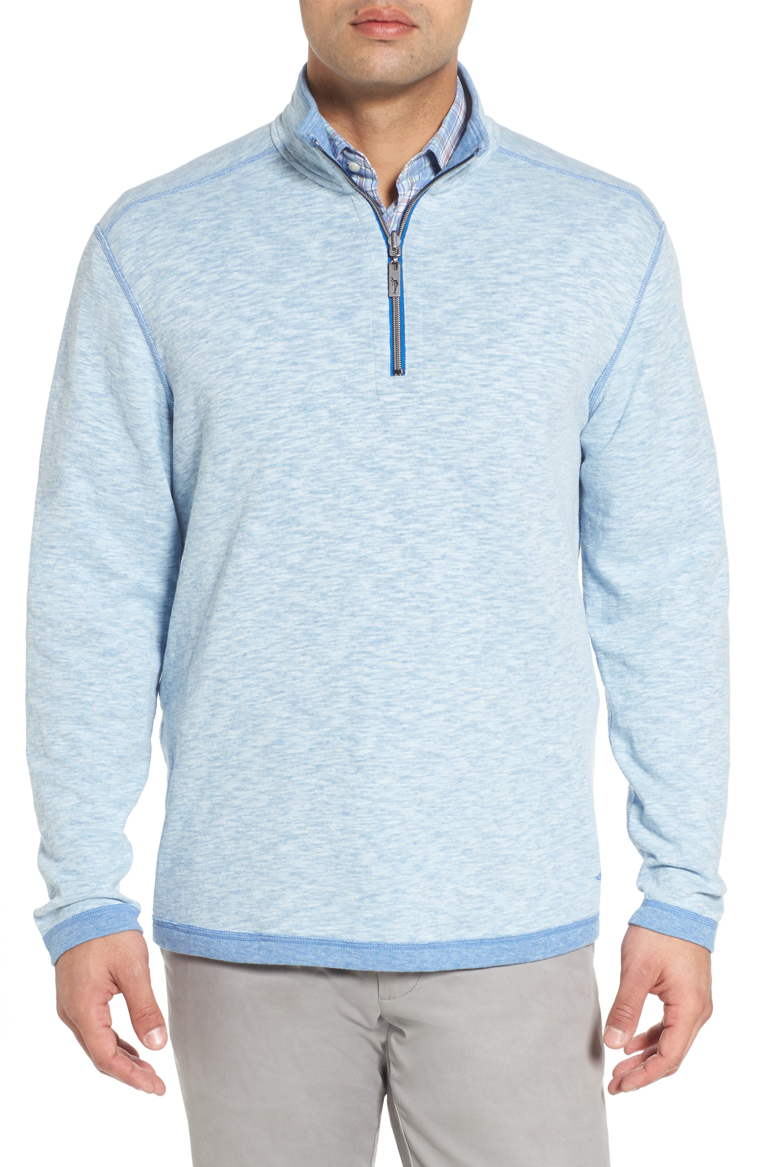 Sea Glass Reversible Quarter Zip Pullover,                             Main thumbnail 4, color,