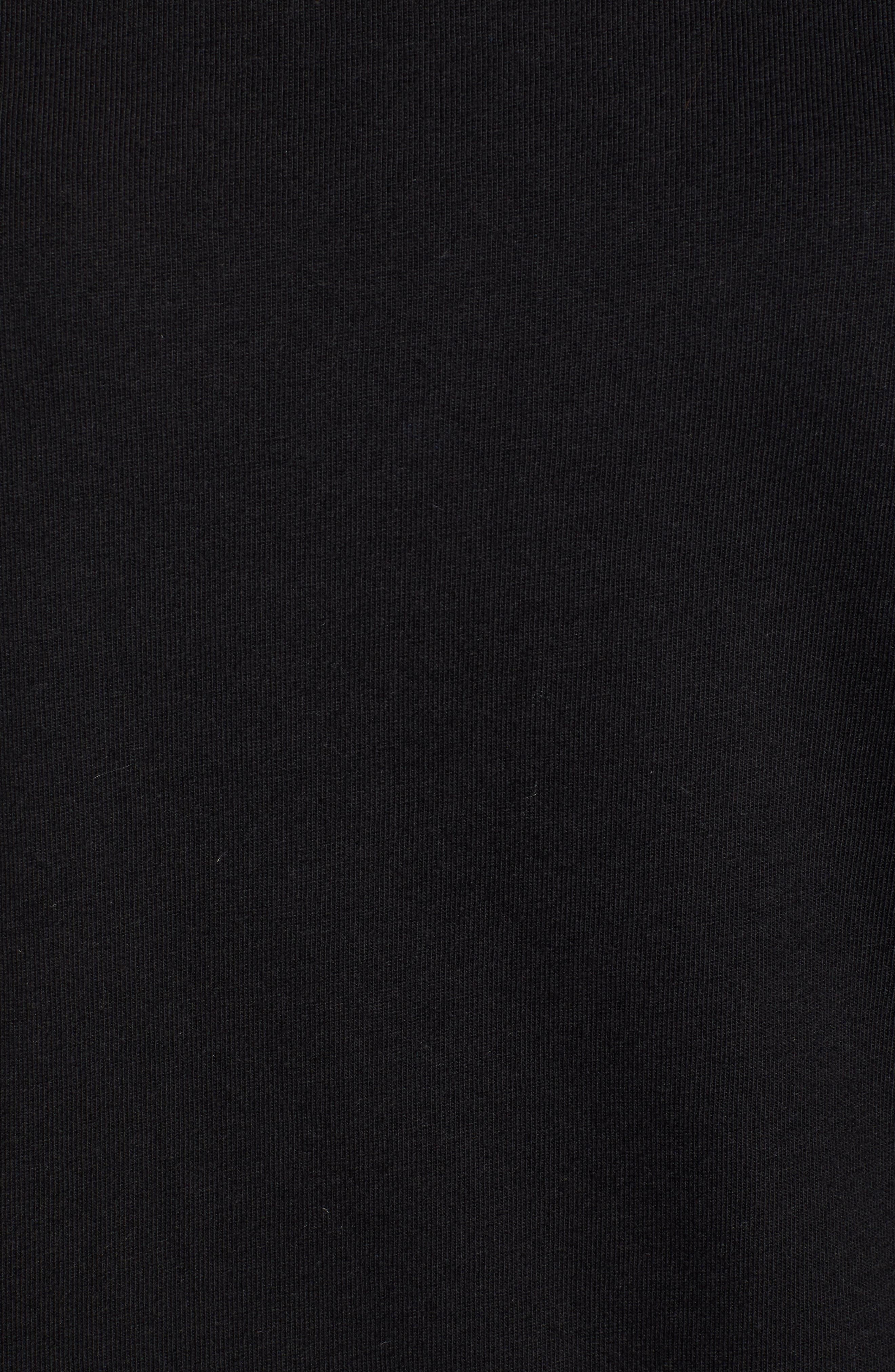 Blouson Sleeve Tee,                             Alternate thumbnail 5, color,                             BLACK