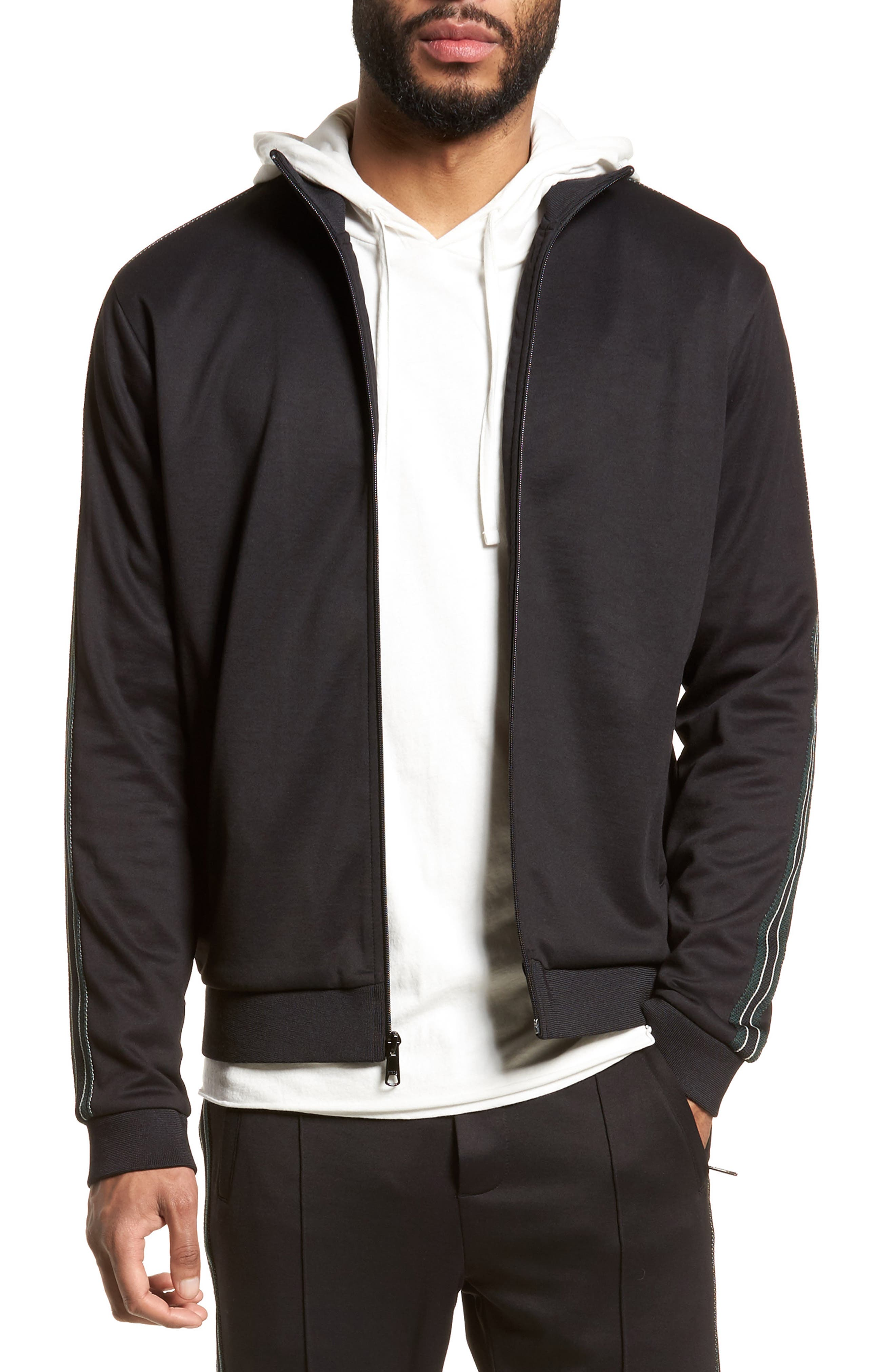 Regular Fit Track Jacket,                             Main thumbnail 1, color,                             001