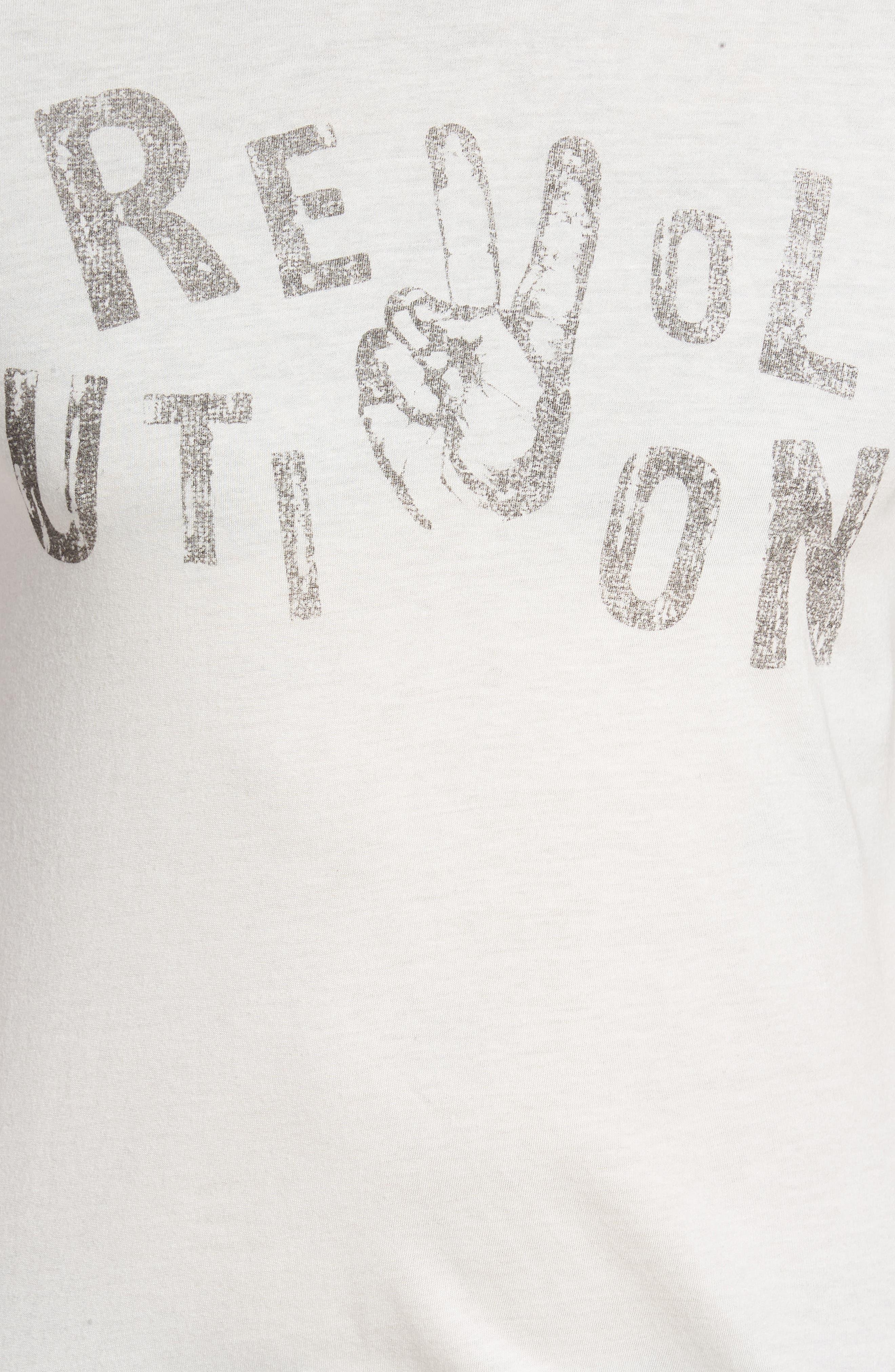 Revolution Graphic T-Shirt,                             Alternate thumbnail 5, color,                             103
