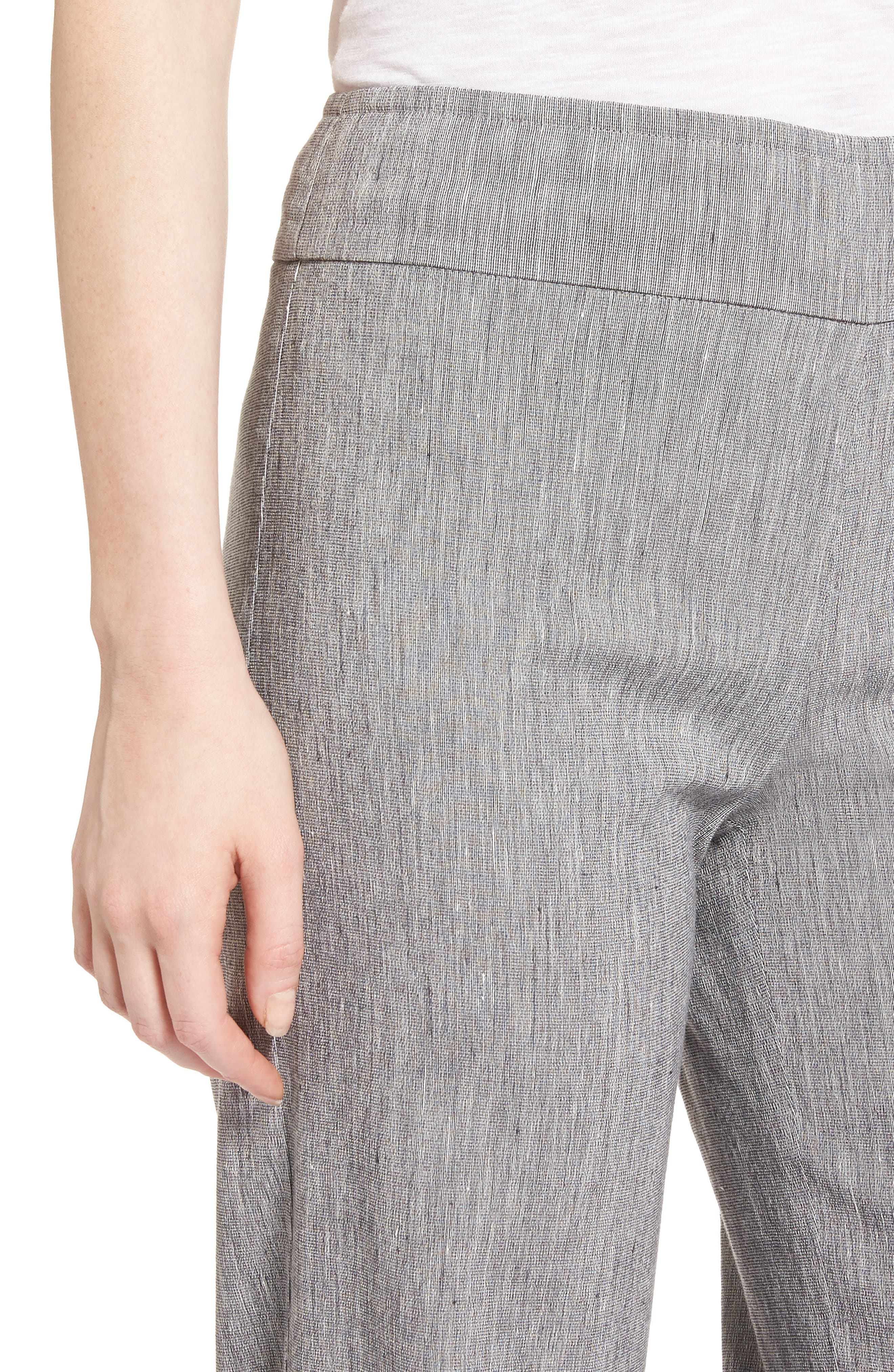 Here or There Linen Blend Pants,                             Alternate thumbnail 4, color,                             099