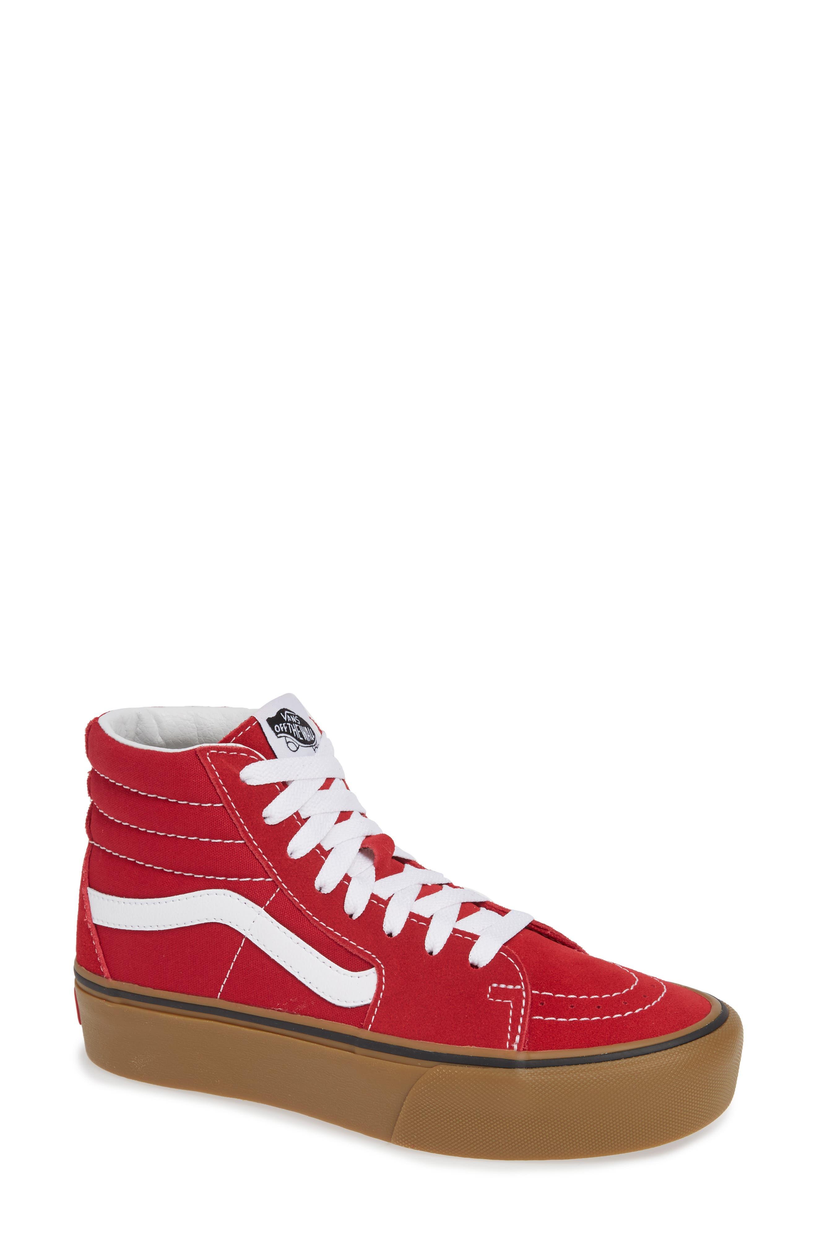 Sk8-Hi Platform Sneaker,                         Main,                         color, SCOOTER/ TRUE WHITE