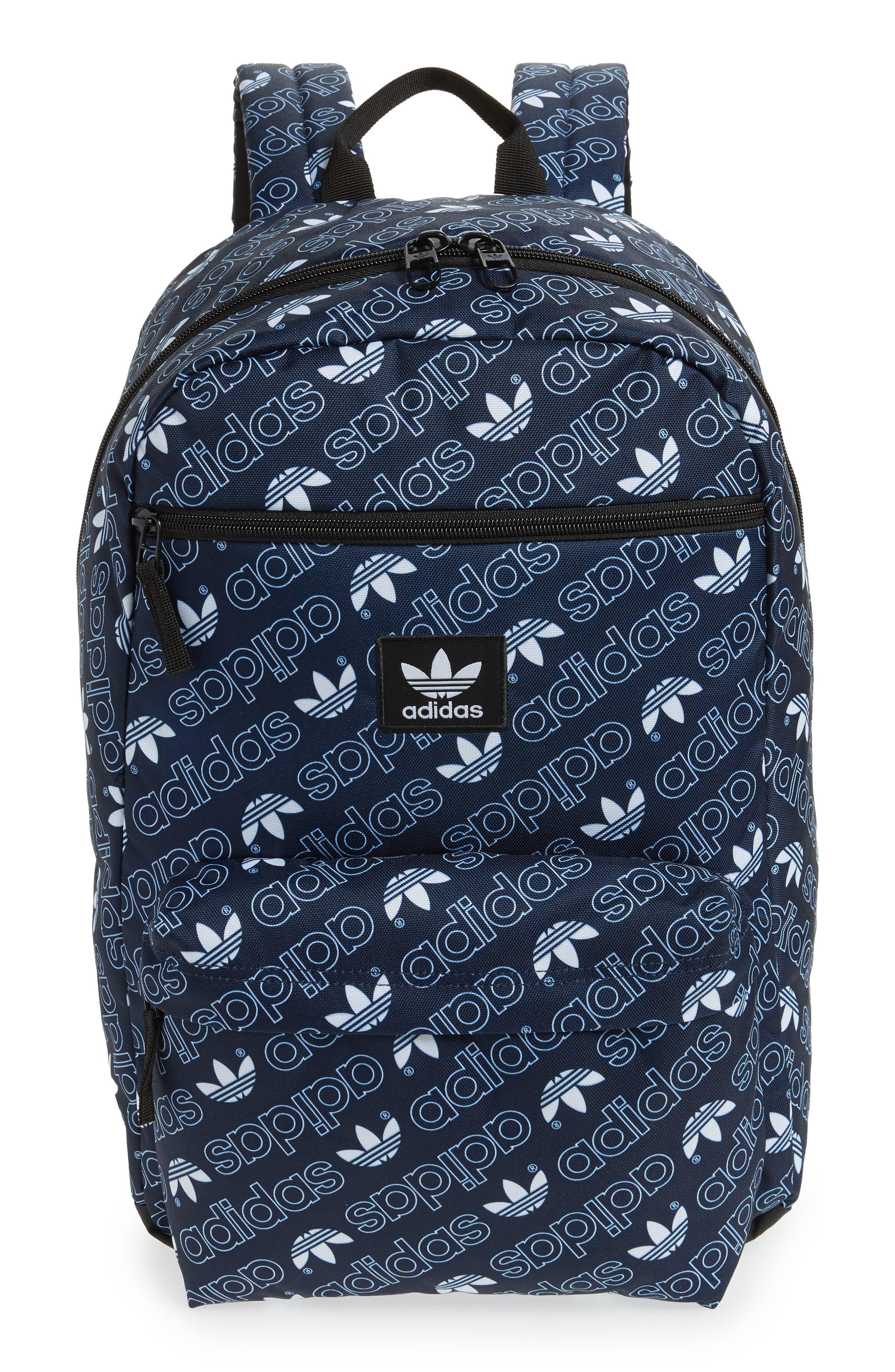Monogram National Backpack,                         Main,                         color, NAVY MONOGRAM