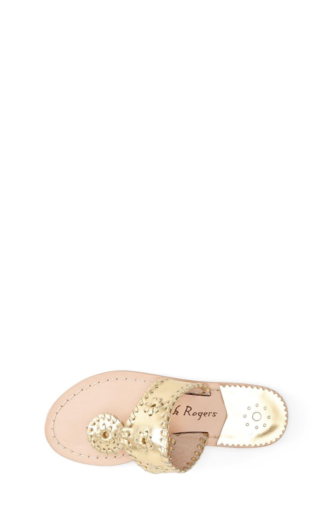 'Miss Hamptons' Sandal,                             Alternate thumbnail 3, color,                             GOLD