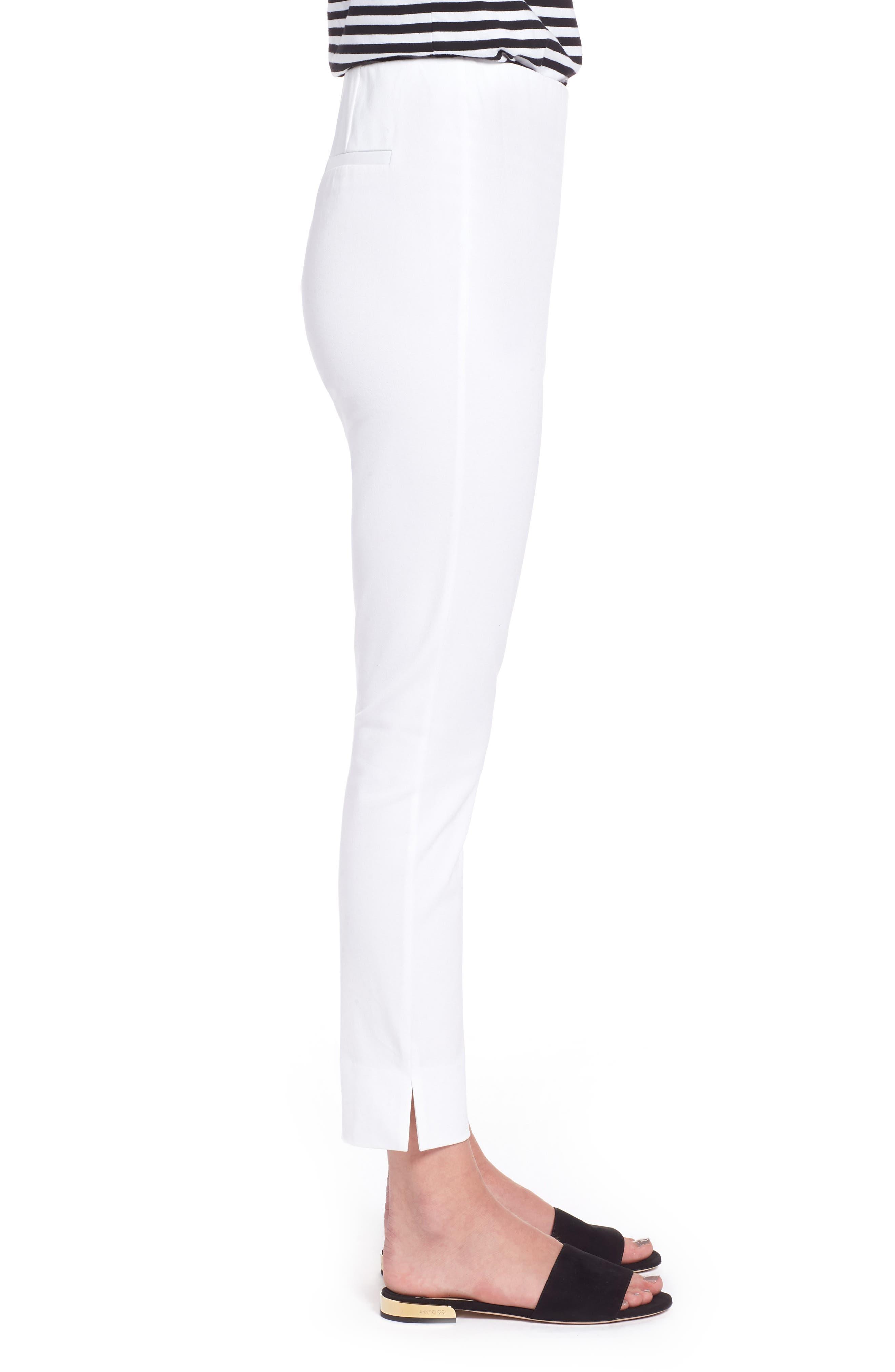 Skinny Stretch Pants,                             Alternate thumbnail 3, color,                             WHITE
