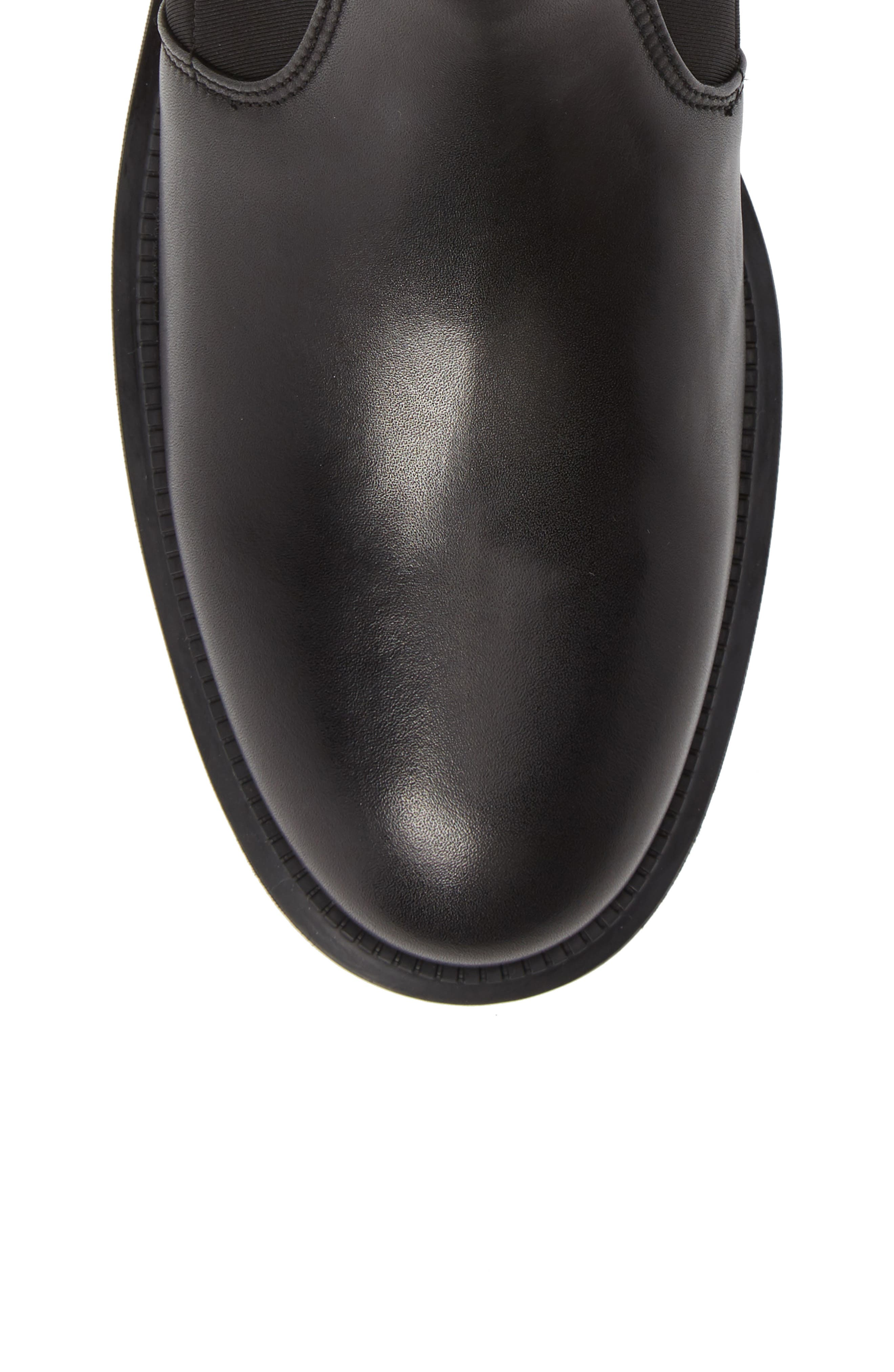 Leoda Ankle Boot,                             Alternate thumbnail 5, color,                             BLACK