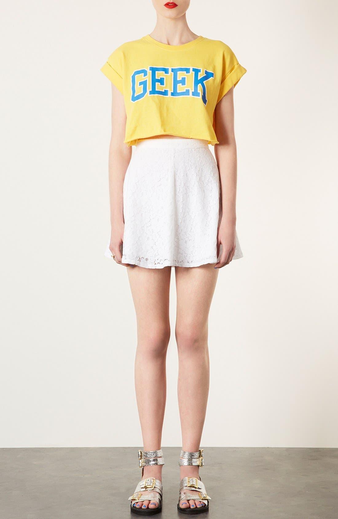Lace Skater Skirt,                             Alternate thumbnail 2, color,                             100