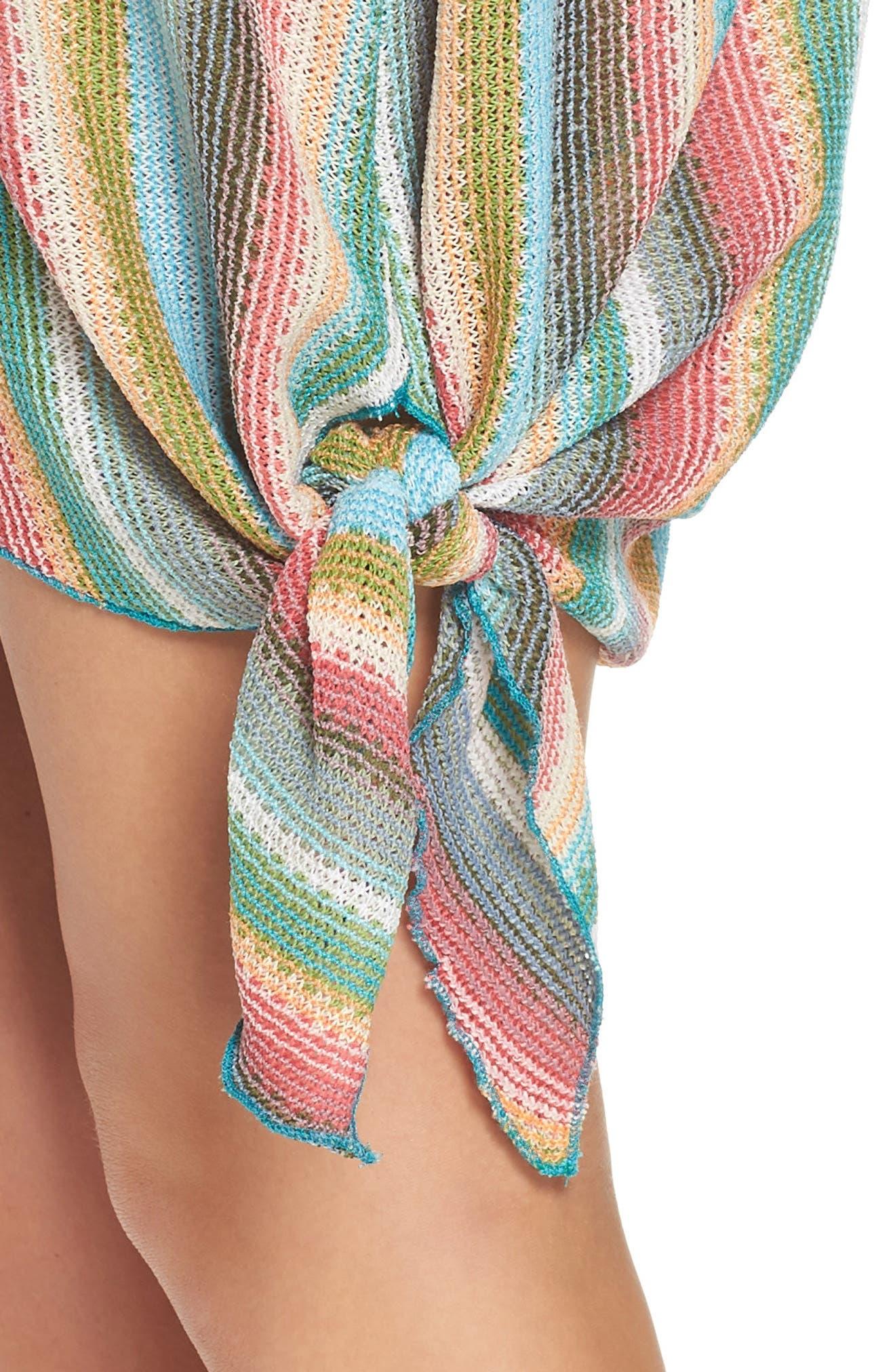 Seville Stripe Cover-Up Dress,                             Alternate thumbnail 4, color,                             800