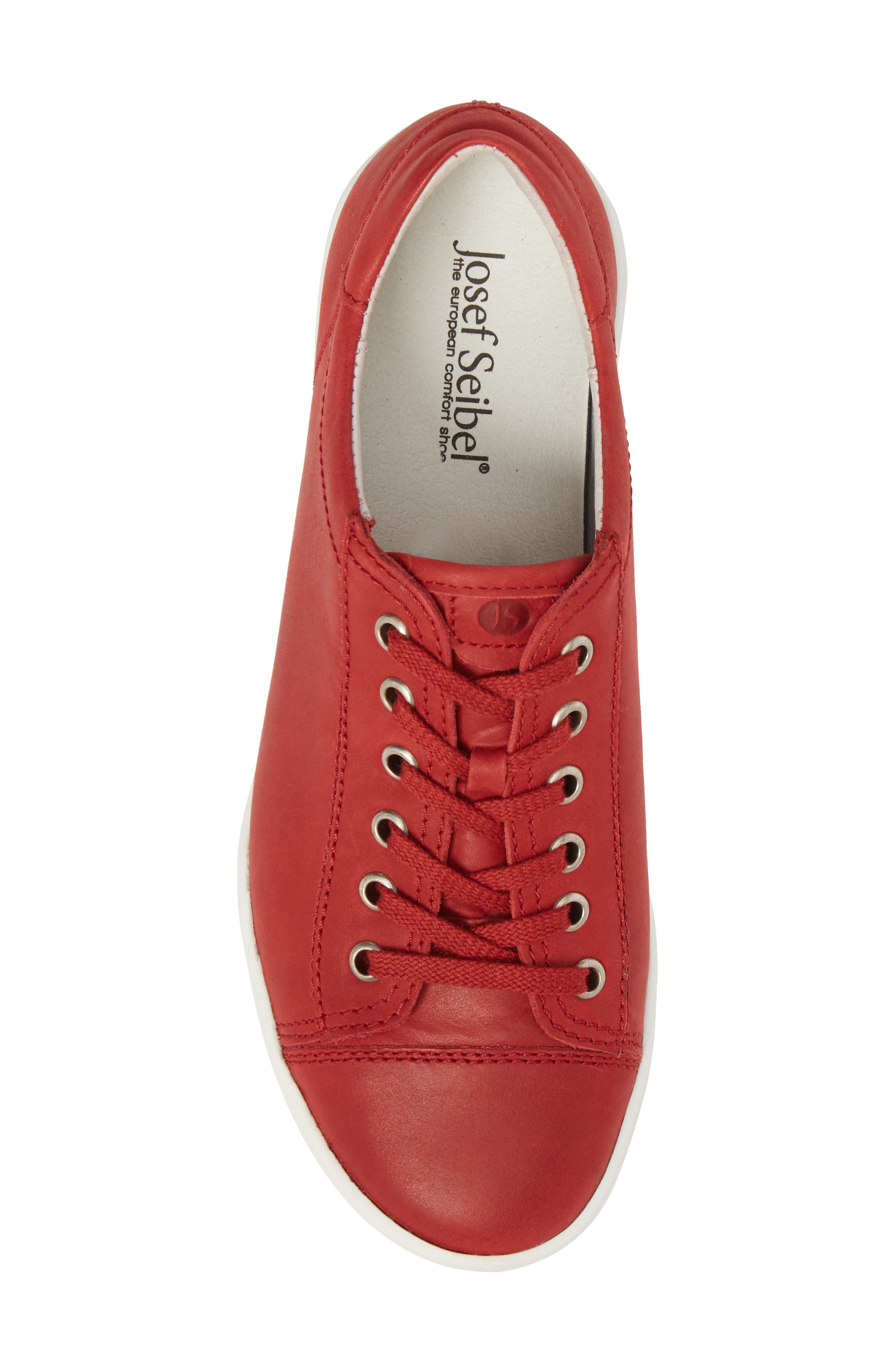 Sina 11 Sneaker,                             Alternate thumbnail 5, color,                             RED LEATHER 2