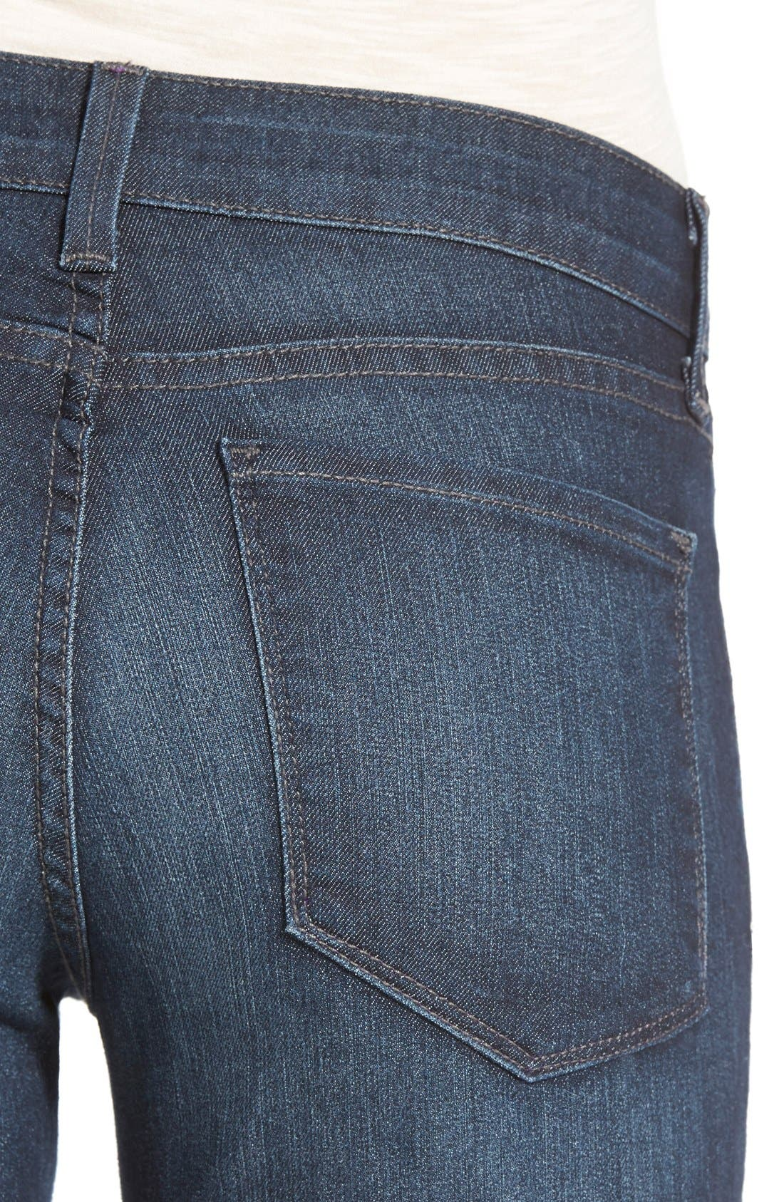 'Billie' Stretch Mini Bootcut Jeans,                             Alternate thumbnail 3, color,