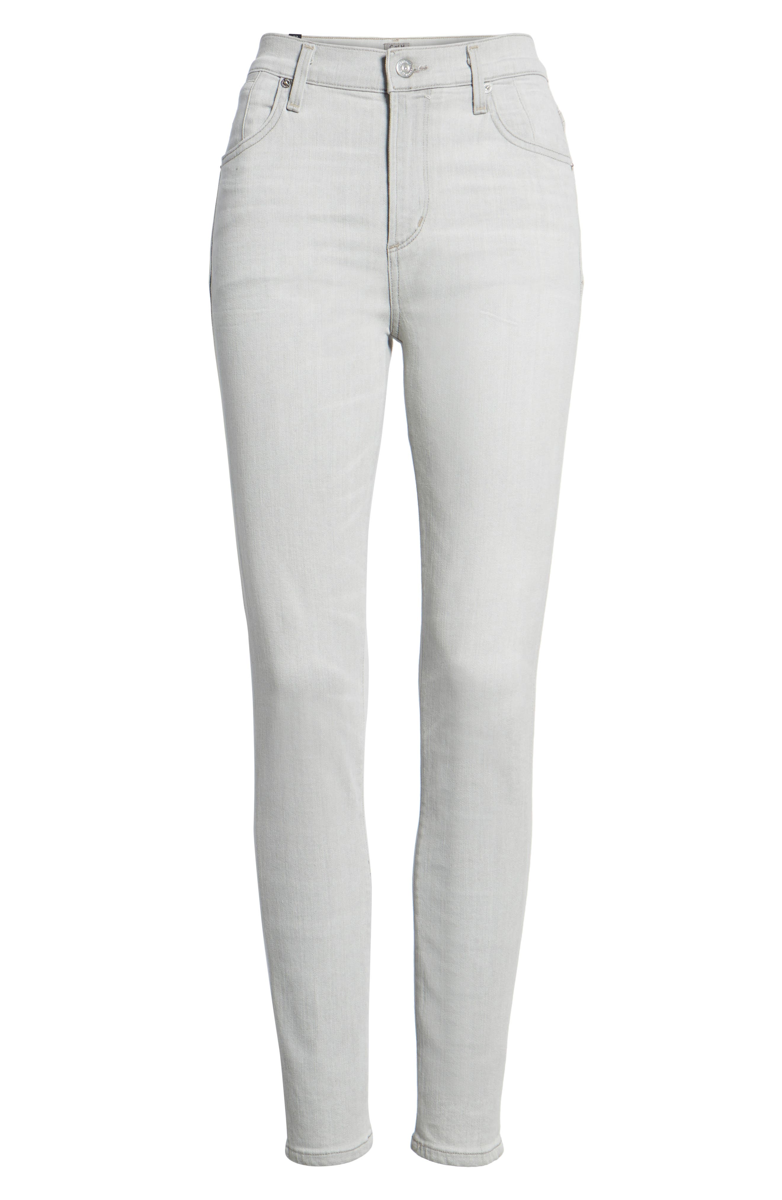 Carlie High Waist Ankle Skinny Jeans,                             Alternate thumbnail 7, color,                             055