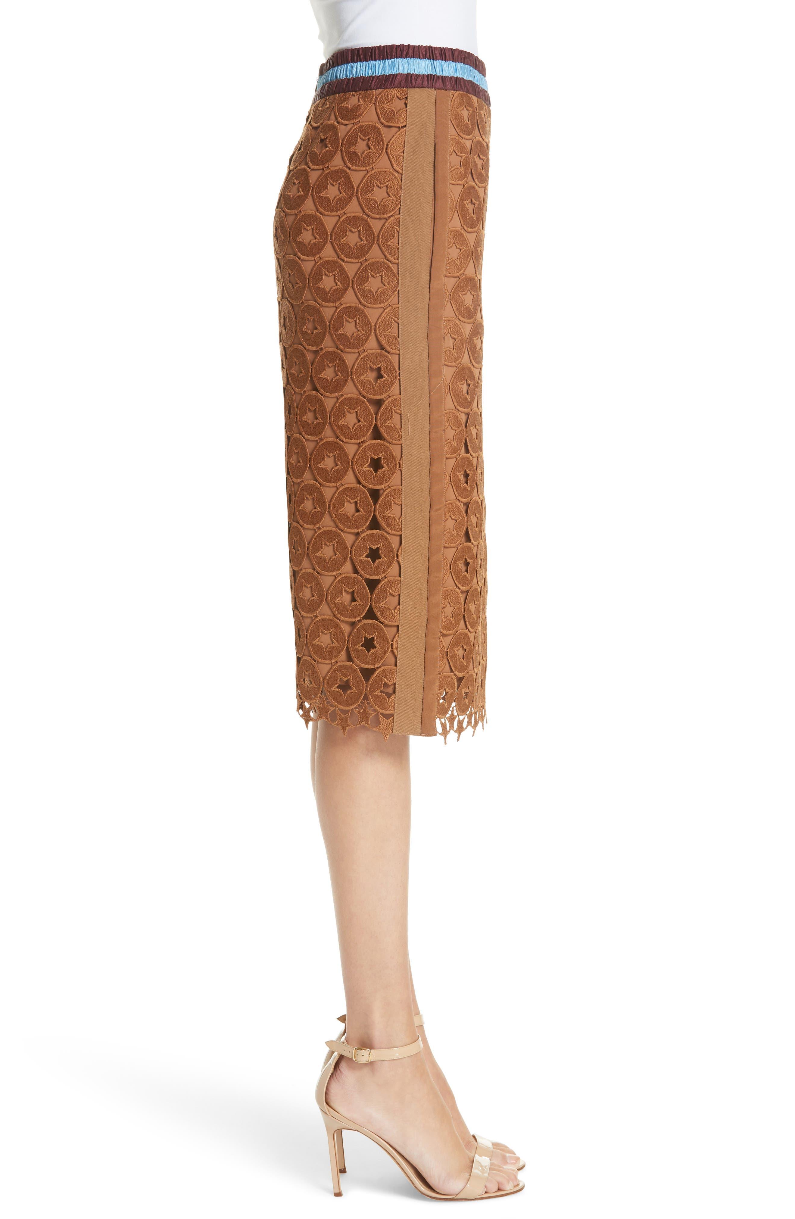 N°21,                             Lace Skirt,                             Alternate thumbnail 3, color,                             200