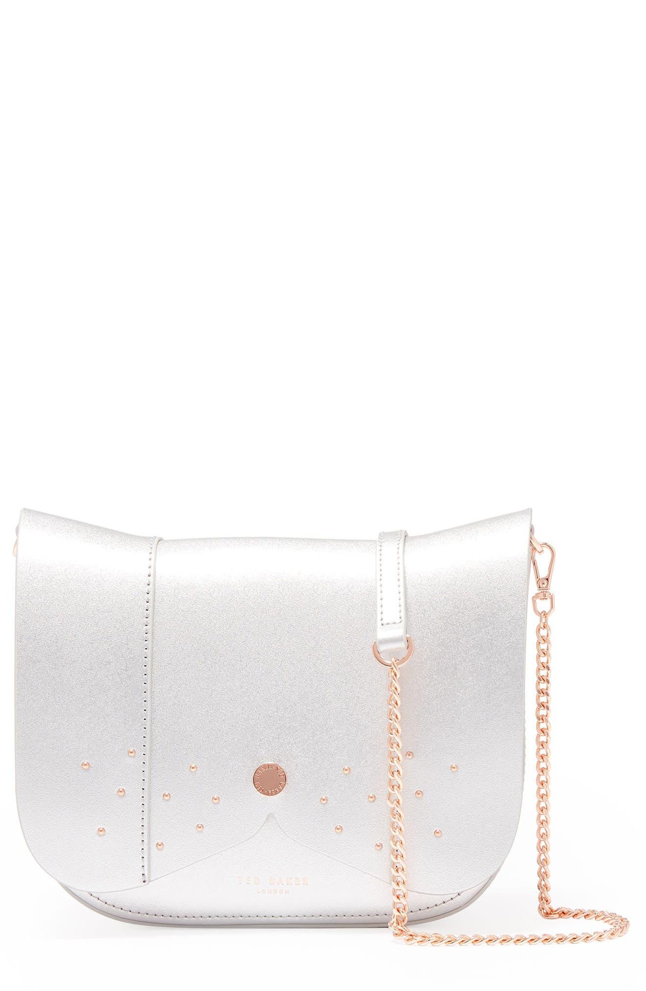 Barkley Dog Leather Crossbody Bag,                         Main,                         color, 020