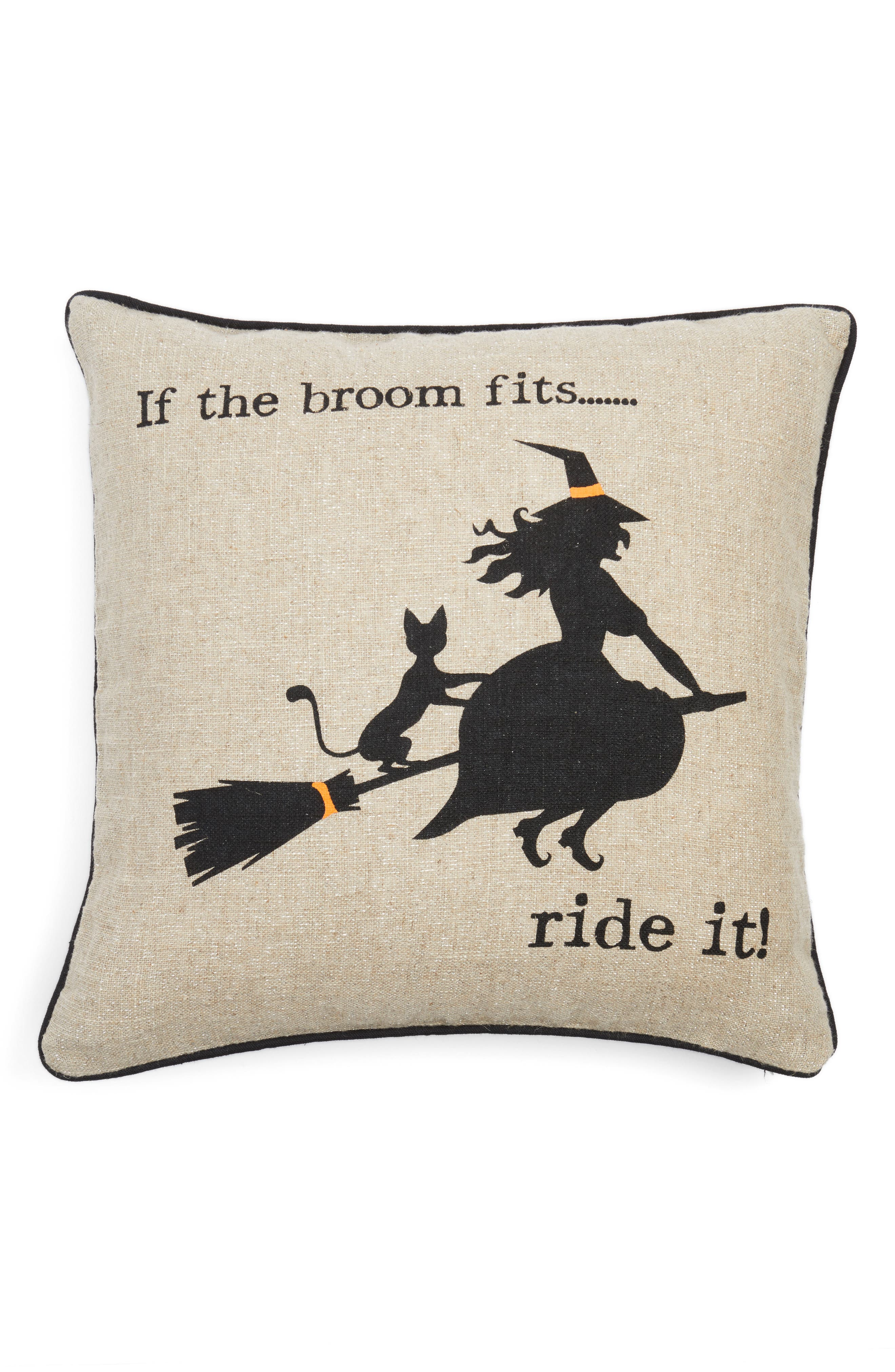 Witty Witch Pillow,                         Main,                         color, 250