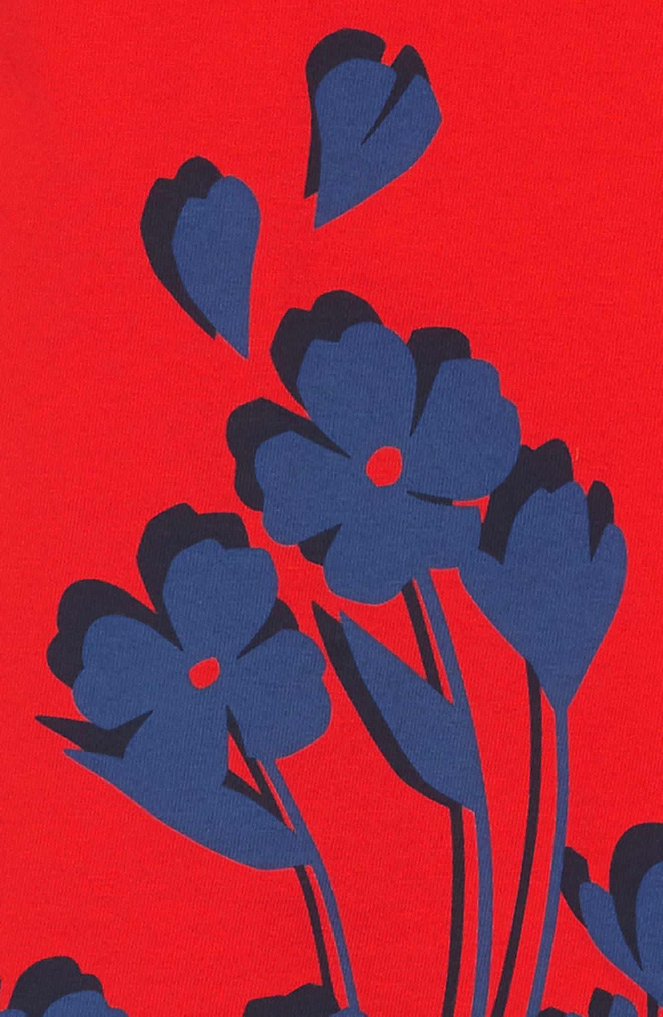 Breezy Floral Graphic Dress,                             Alternate thumbnail 3, color,                             600