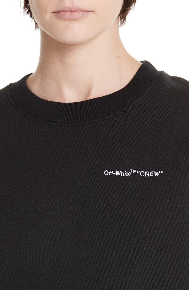 fbc07f5f296a Shop Off-White Quotes Casual Crewneck Sweatshirt In Black White