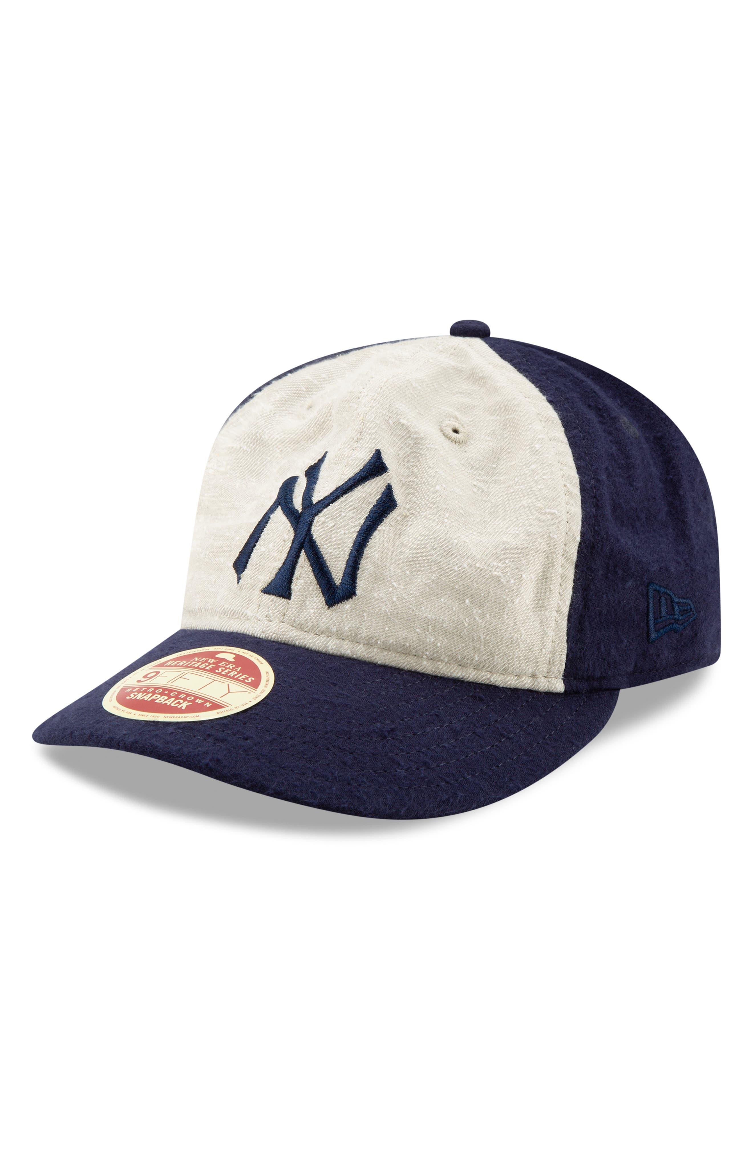 NEW ERA CAP,                             Vintage Slub Cap,                             Alternate thumbnail 4, color,                             YANKEES