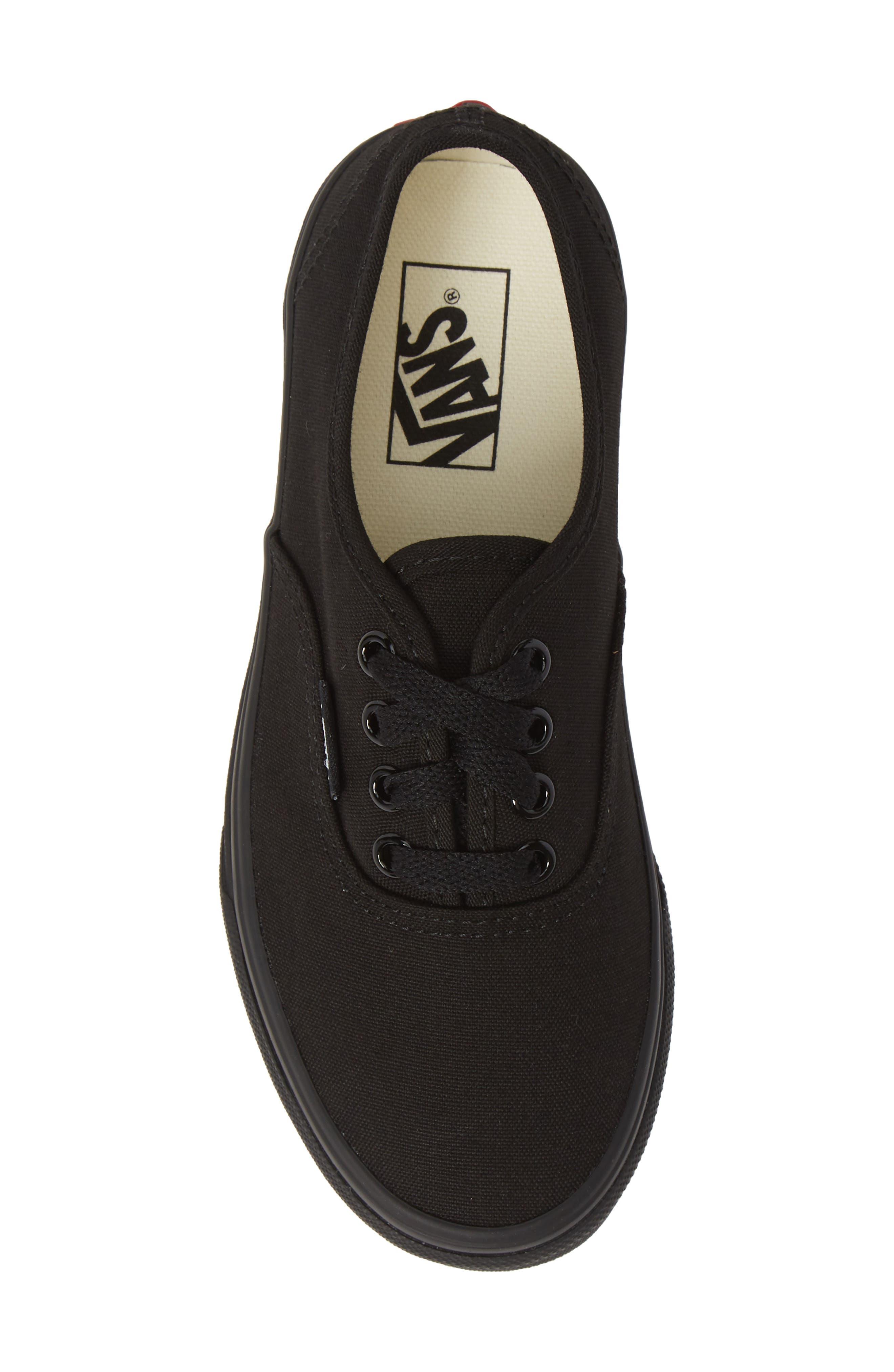 'Authentic' Sneaker,                             Alternate thumbnail 5, color,                             BLACK/ BLACK/ BLACK