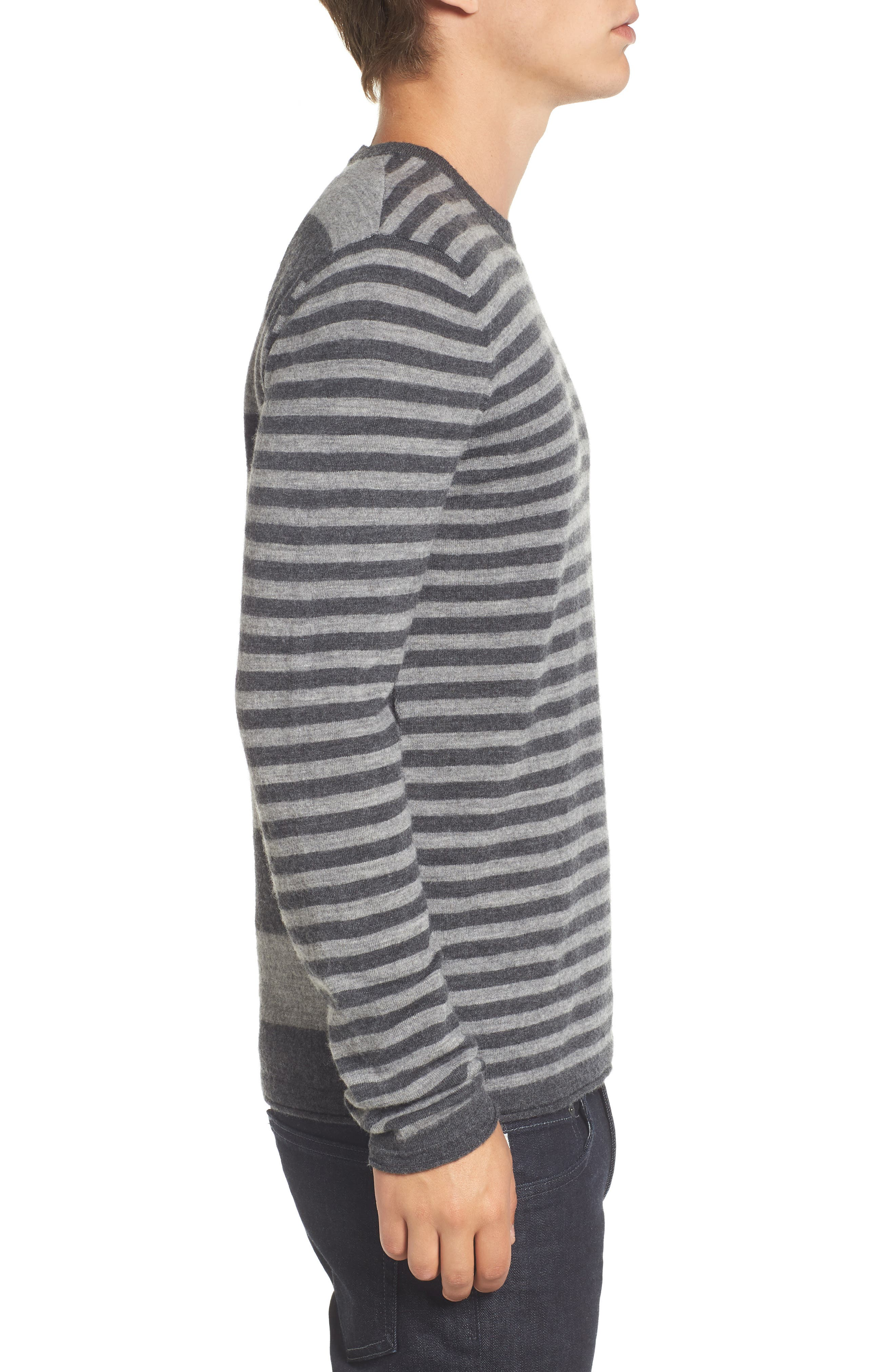Double Stripe Wool Sweater,                             Alternate thumbnail 3, color,                             037