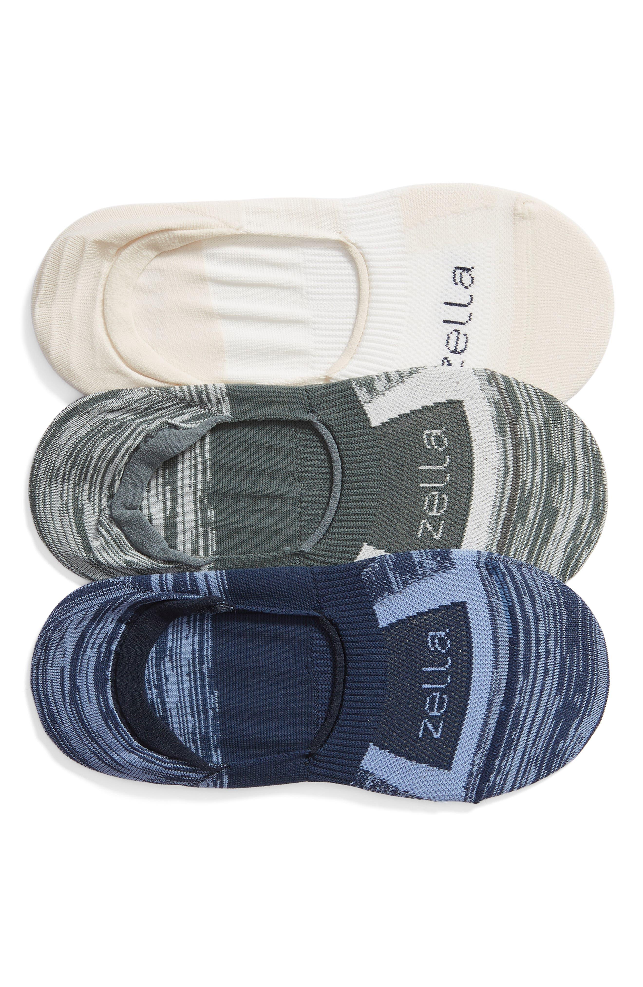 3-Pack Low Profile Socks,                             Main thumbnail 1, color,                             GREY URBAN