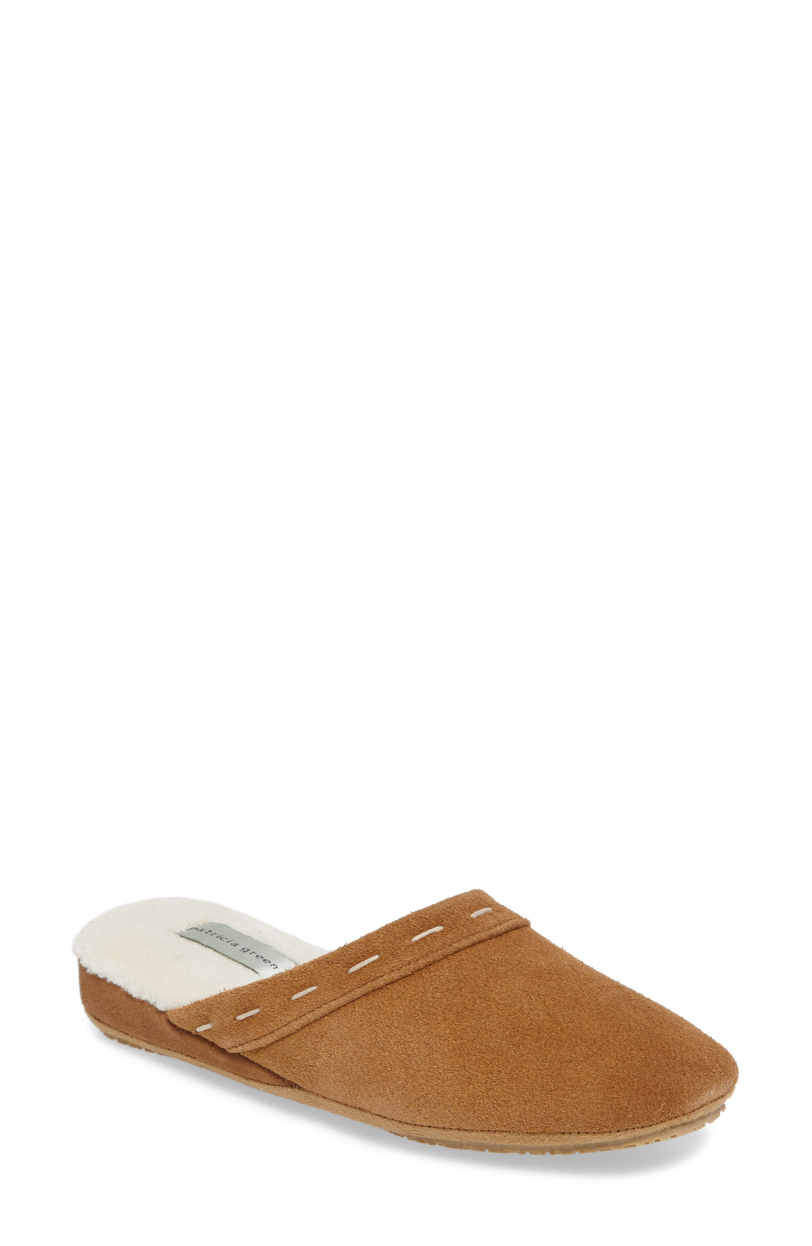 Mayfair Wedge Slipper,                             Main thumbnail 1, color,                             CAMEL SUEDE