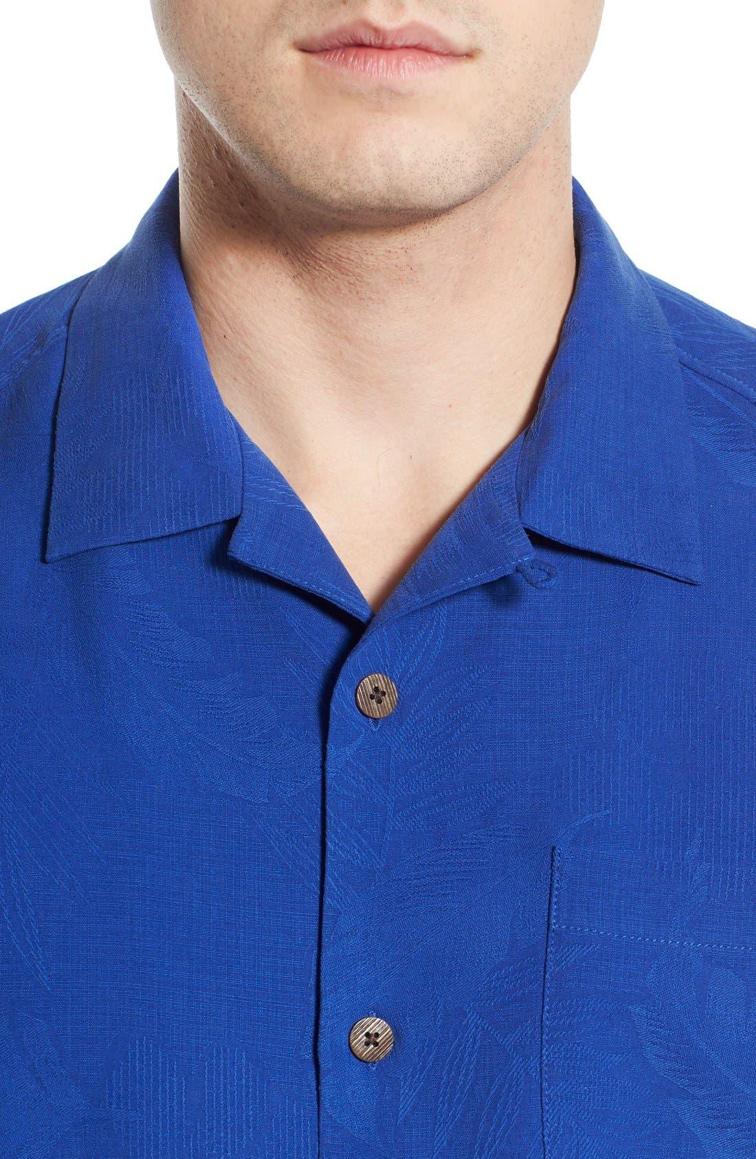 Rio Fronds Short Sleeve Silk Sport Shirt,                             Alternate thumbnail 57, color,