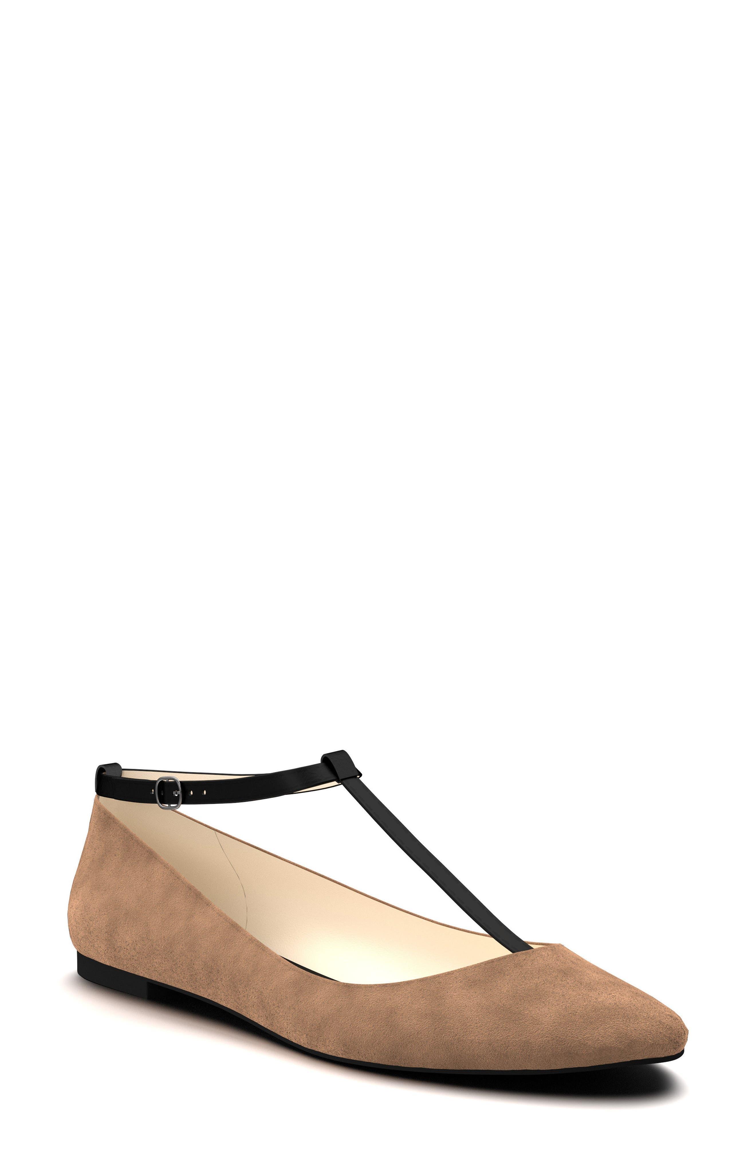 T-Strap Ballet Flat,                         Main,                         color, 250