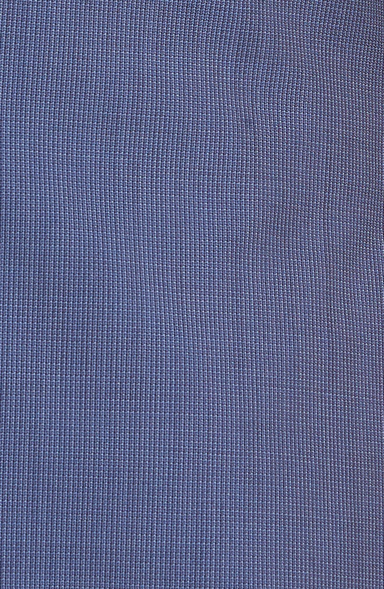Huge/Genius Trim Fit Solid Three Piece Wool Suit,                             Alternate thumbnail 9, color,                             BLUE