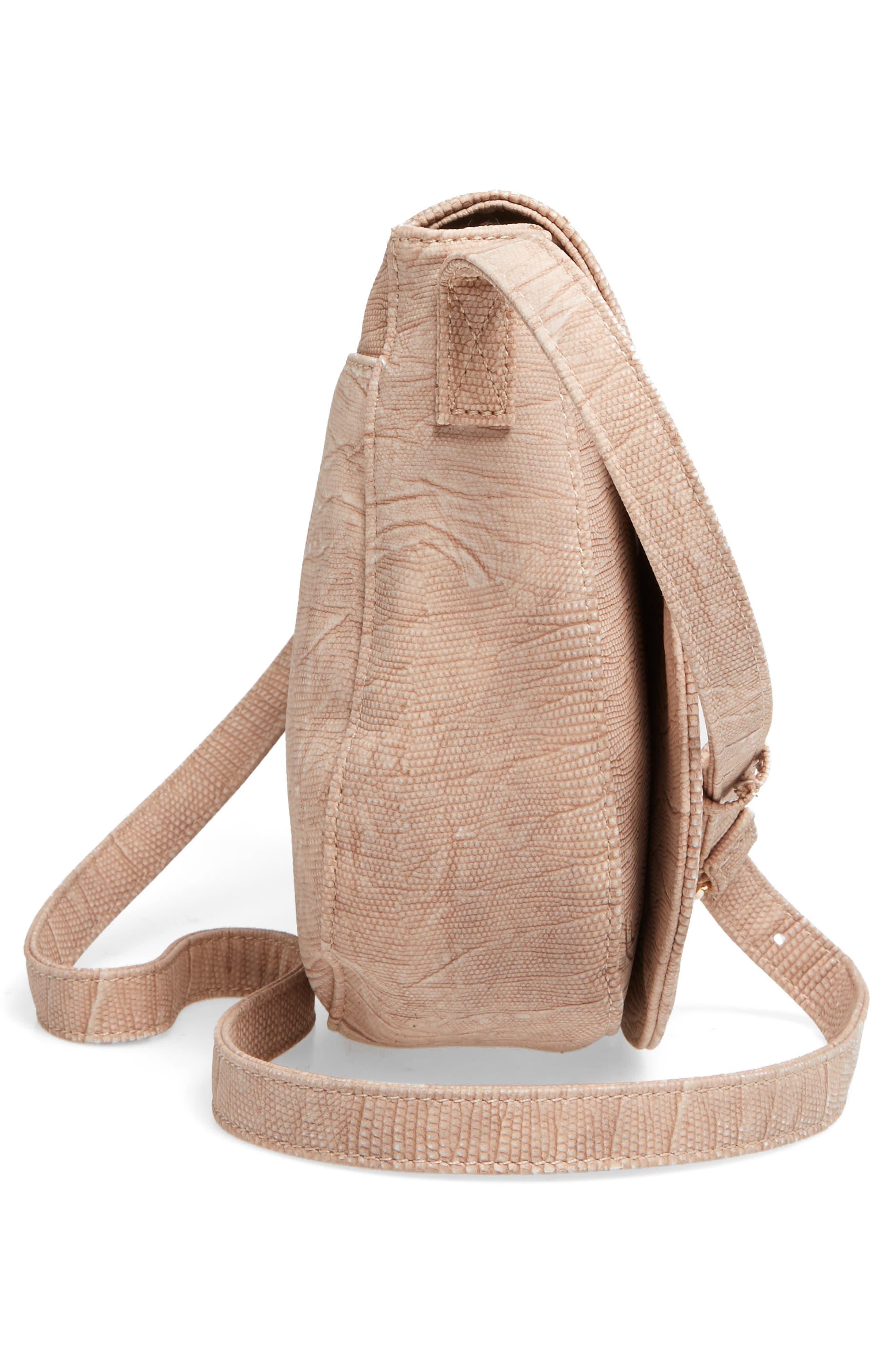 Livvy Faux Leather Crossbody Saddle Bag,                             Alternate thumbnail 14, color,