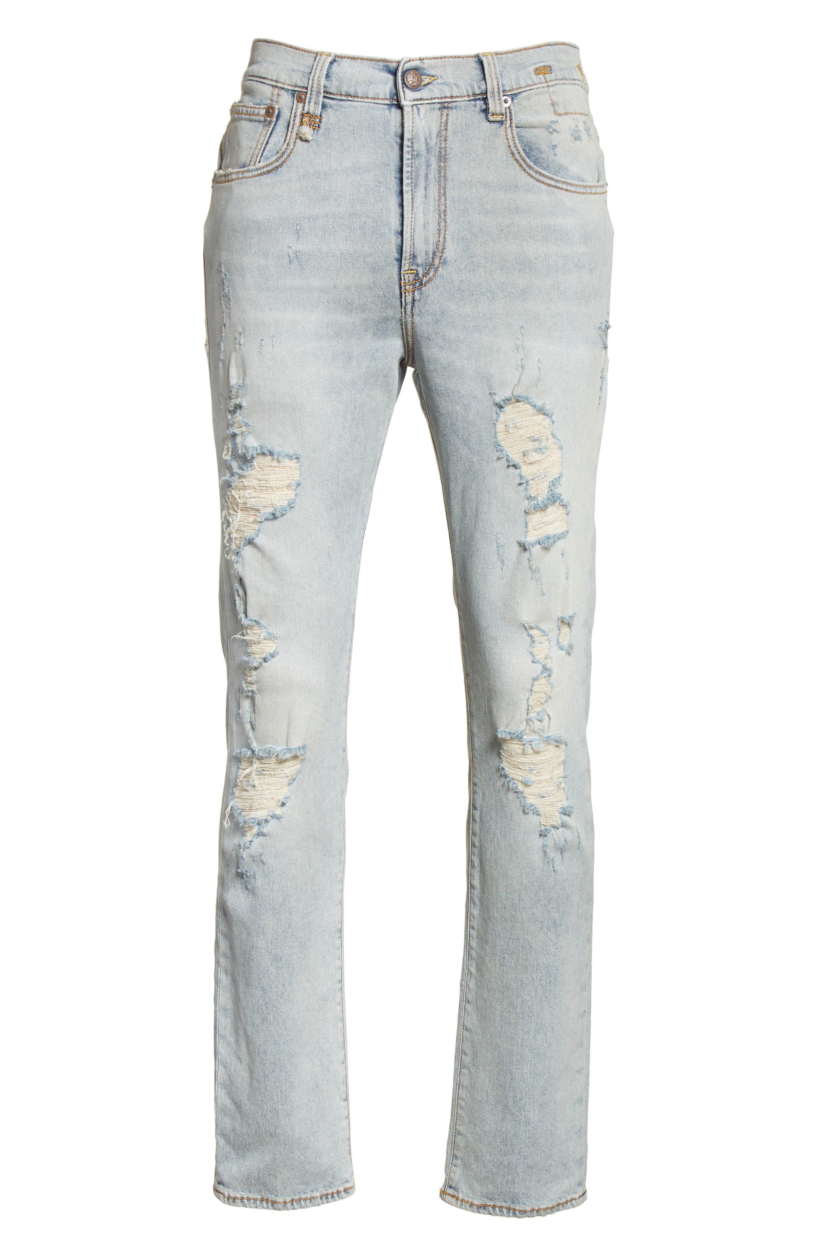 Skate Destroyed Jeans,                             Alternate thumbnail 6, color,                             460