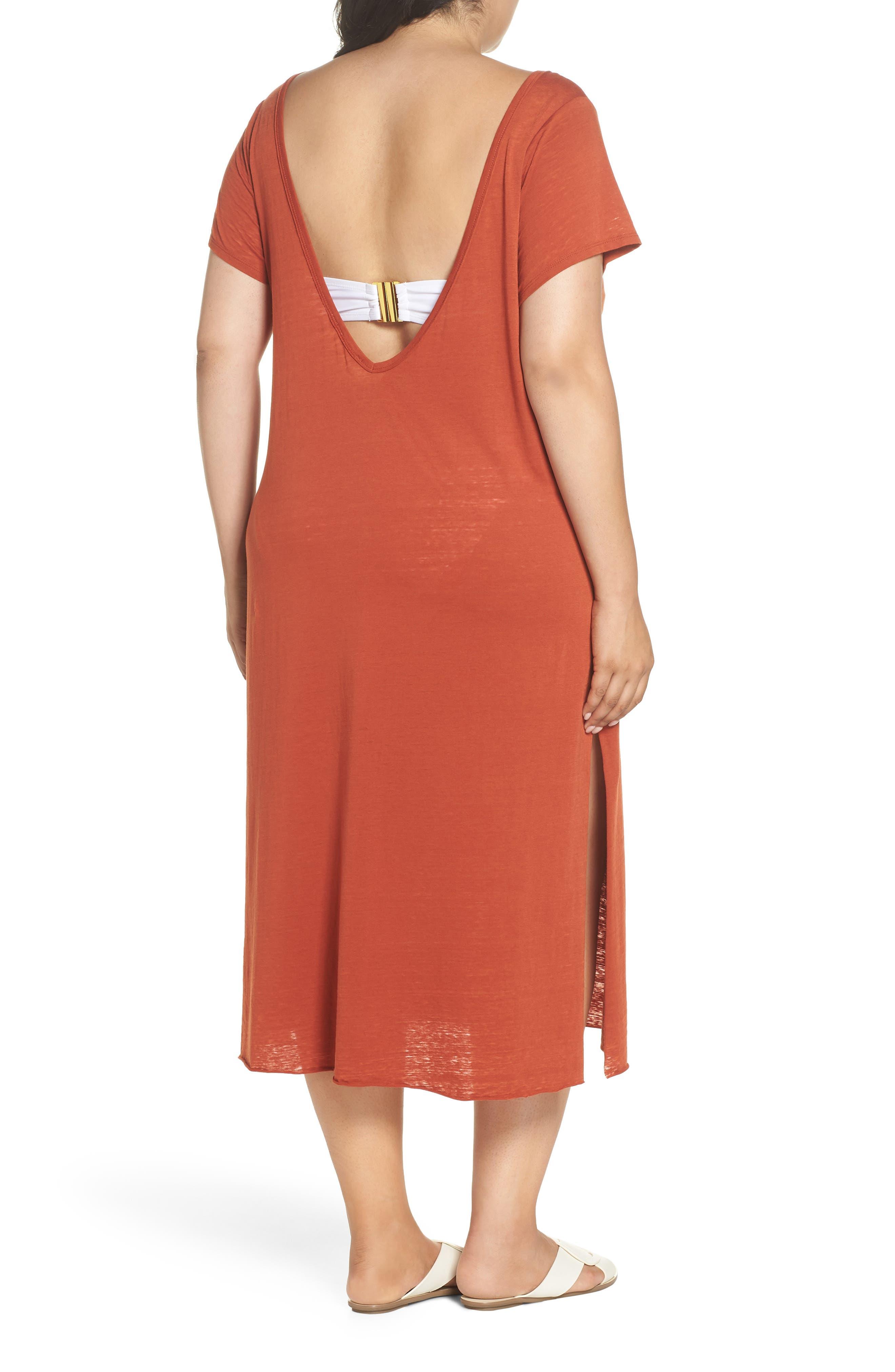 Easy Burnout Cover-Up T-Shirt Dress,                             Alternate thumbnail 2, color,                             221