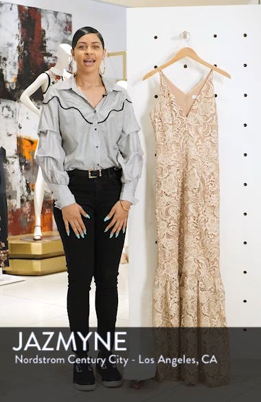 Sophia Crochet Lace Mermaid Gown, sales video thumbnail