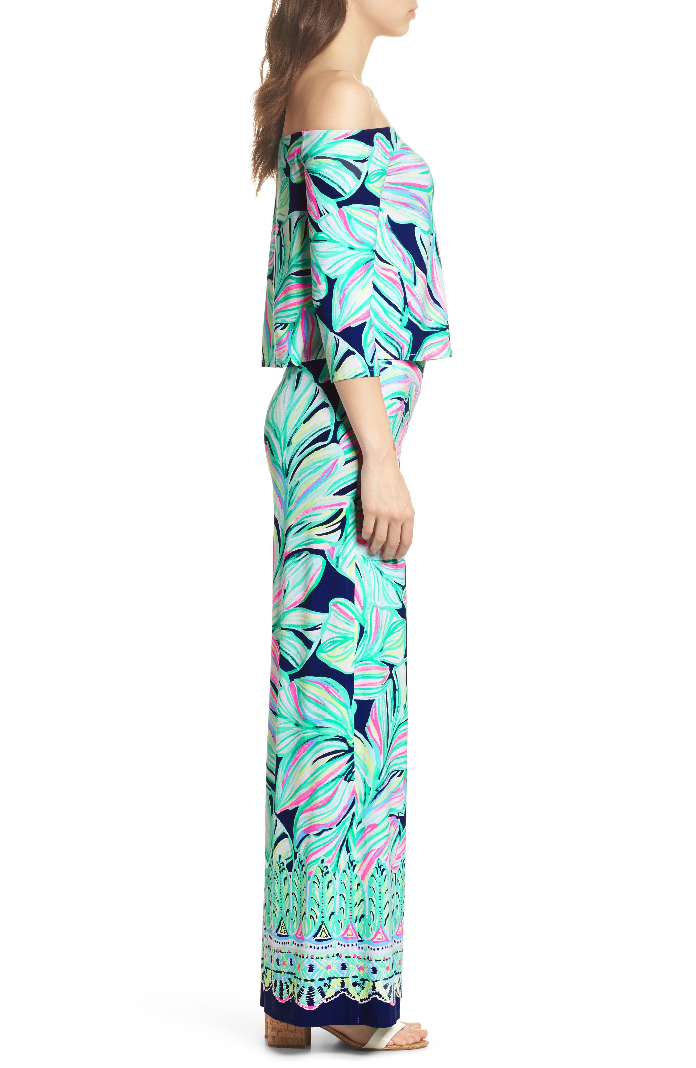 Weslee Floral Top & Pants,                             Alternate thumbnail 3, color,