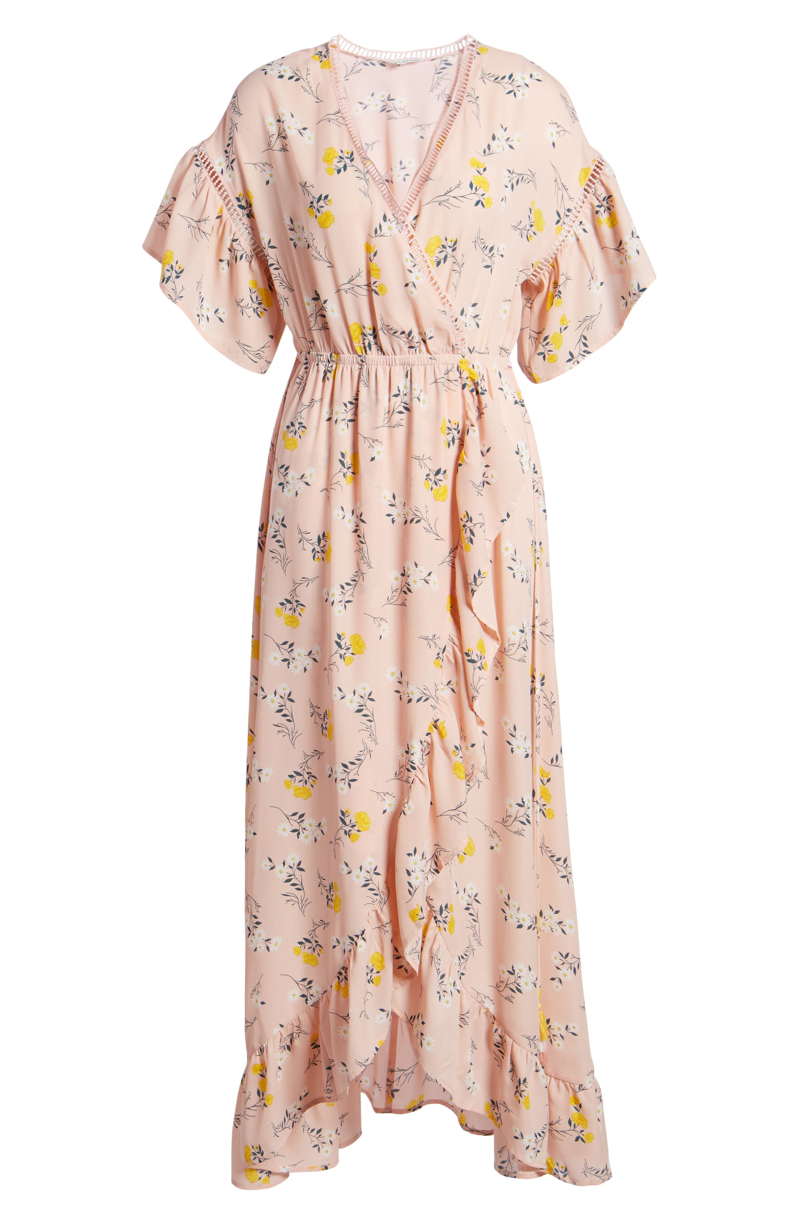 Romance Floral Wrap Style Dress,                             Alternate thumbnail 6, color,                             650