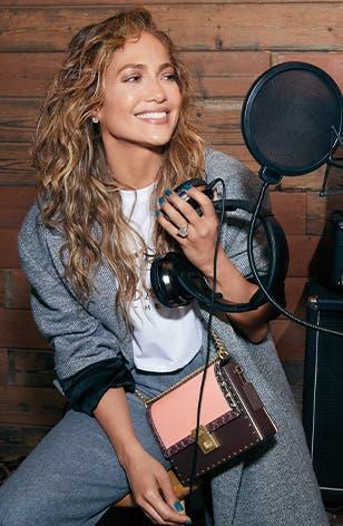 COACH x Jennifer Lopez: special-edition Hutton bag.