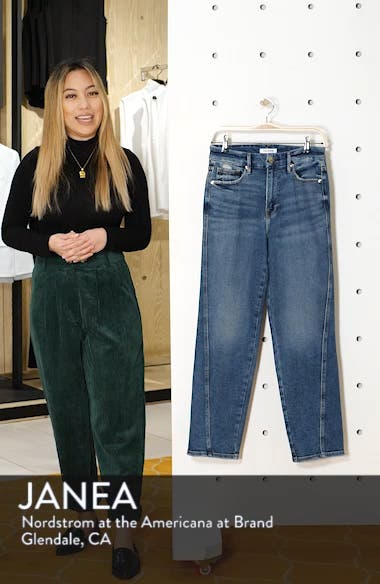 Twist Seam Crop Straight Leg Jeans, sales video thumbnail